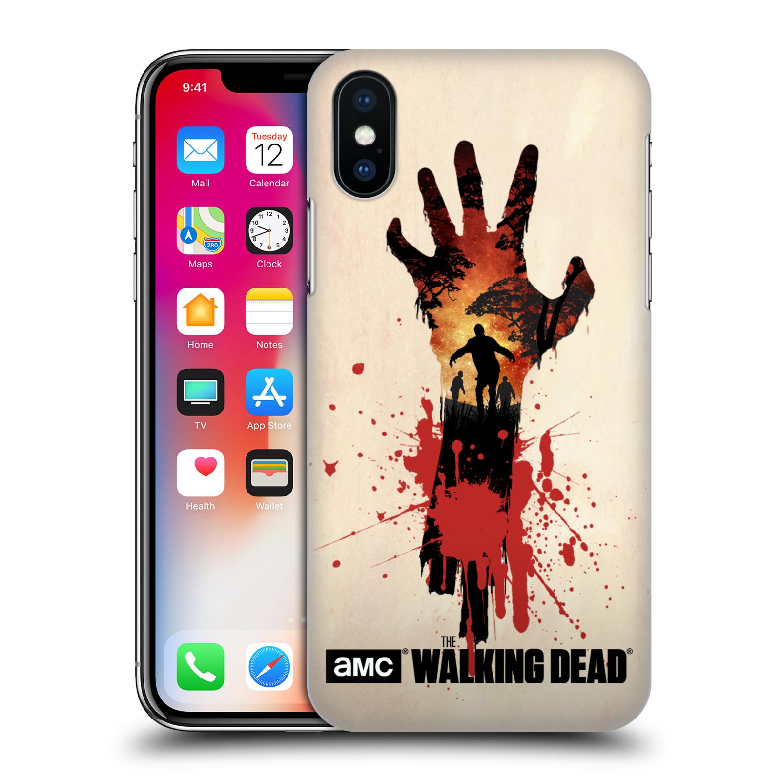 Pouzdro na mobil Apple Iphone X/XS - HEAD CASE - Živí Mrtví silueta ruky