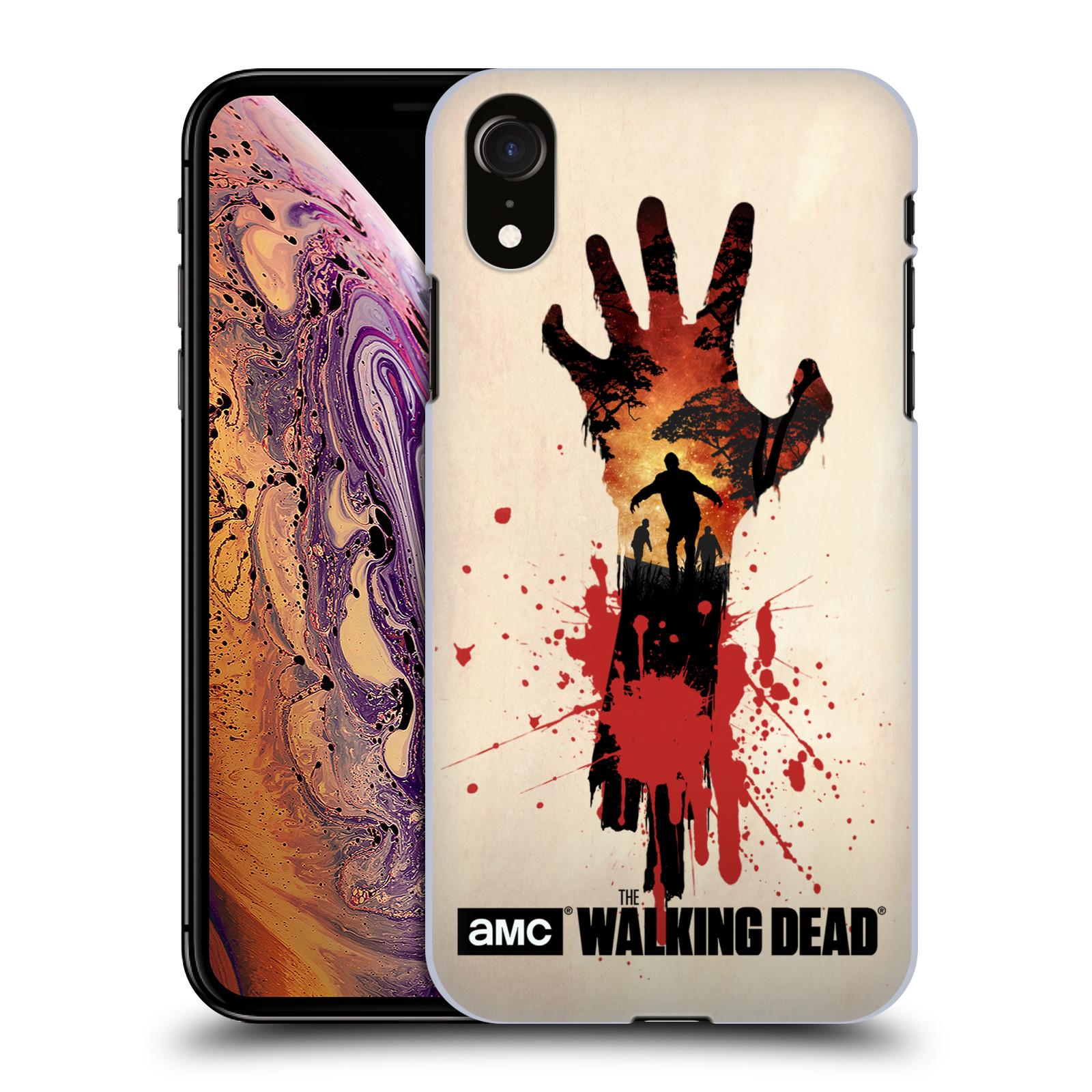 Pouzdro na mobil Apple Iphone XR - HEAD CASE - Živí Mrtví silueta ruky