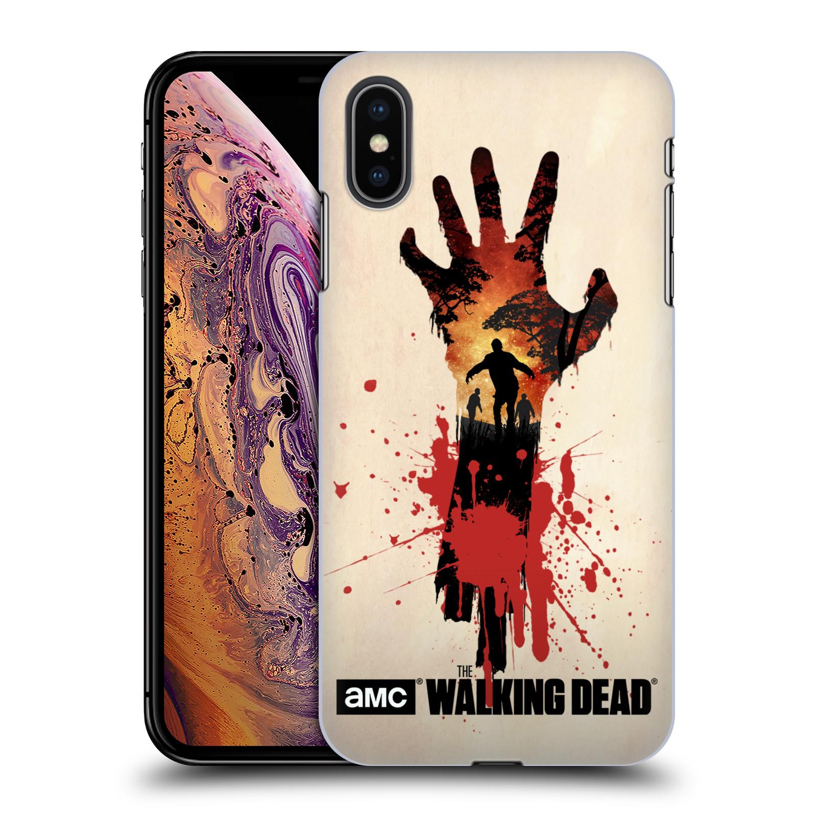 Pouzdro na mobil Apple Iphone XS MAX - HEAD CASE - Živí Mrtví silueta ruky