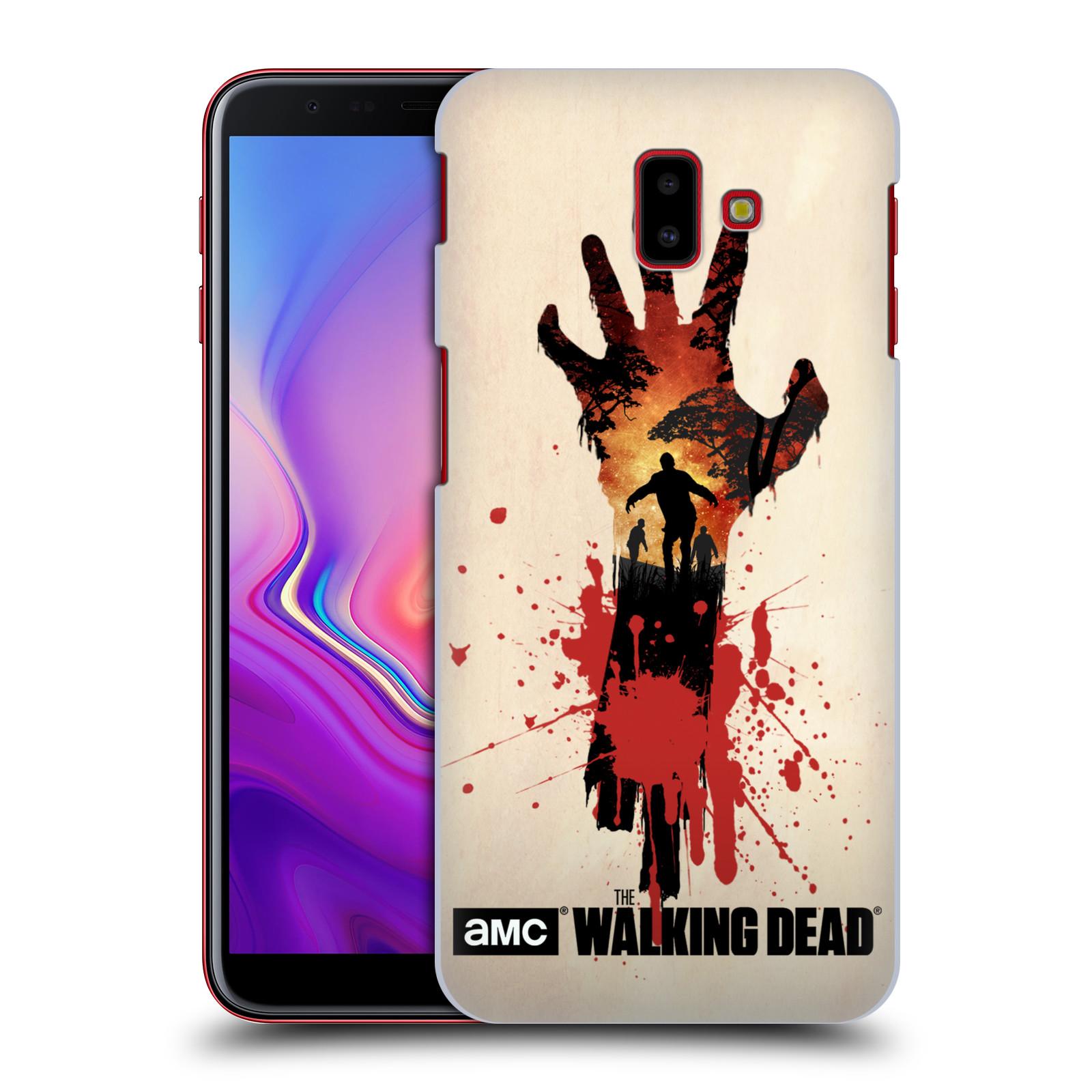 Pouzdro na mobil Samsung Galaxy J6+ - HEAD CASE - Živí Mrtví silueta ruky