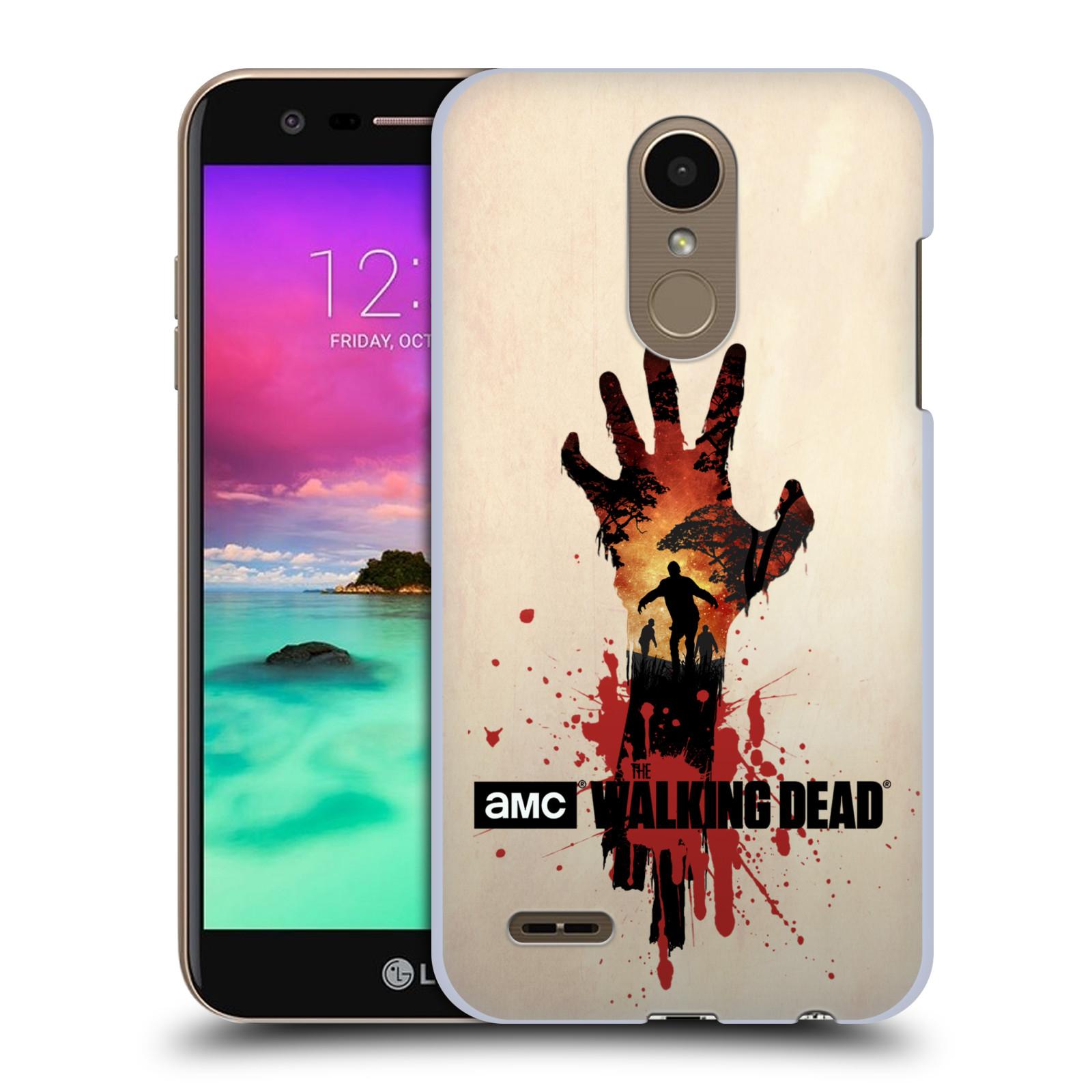 Pouzdro na mobil LG K10 2018 - HEAD CASE - Živí Mrtví silueta ruky