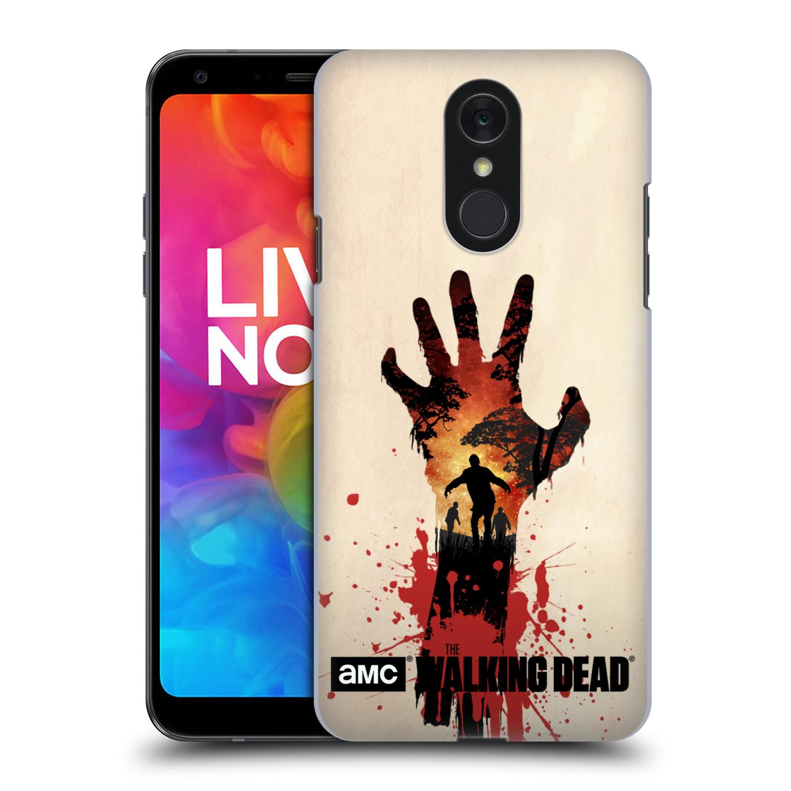 Pouzdro na mobil LG Q7 - HEAD CASE - Živí Mrtví silueta ruky