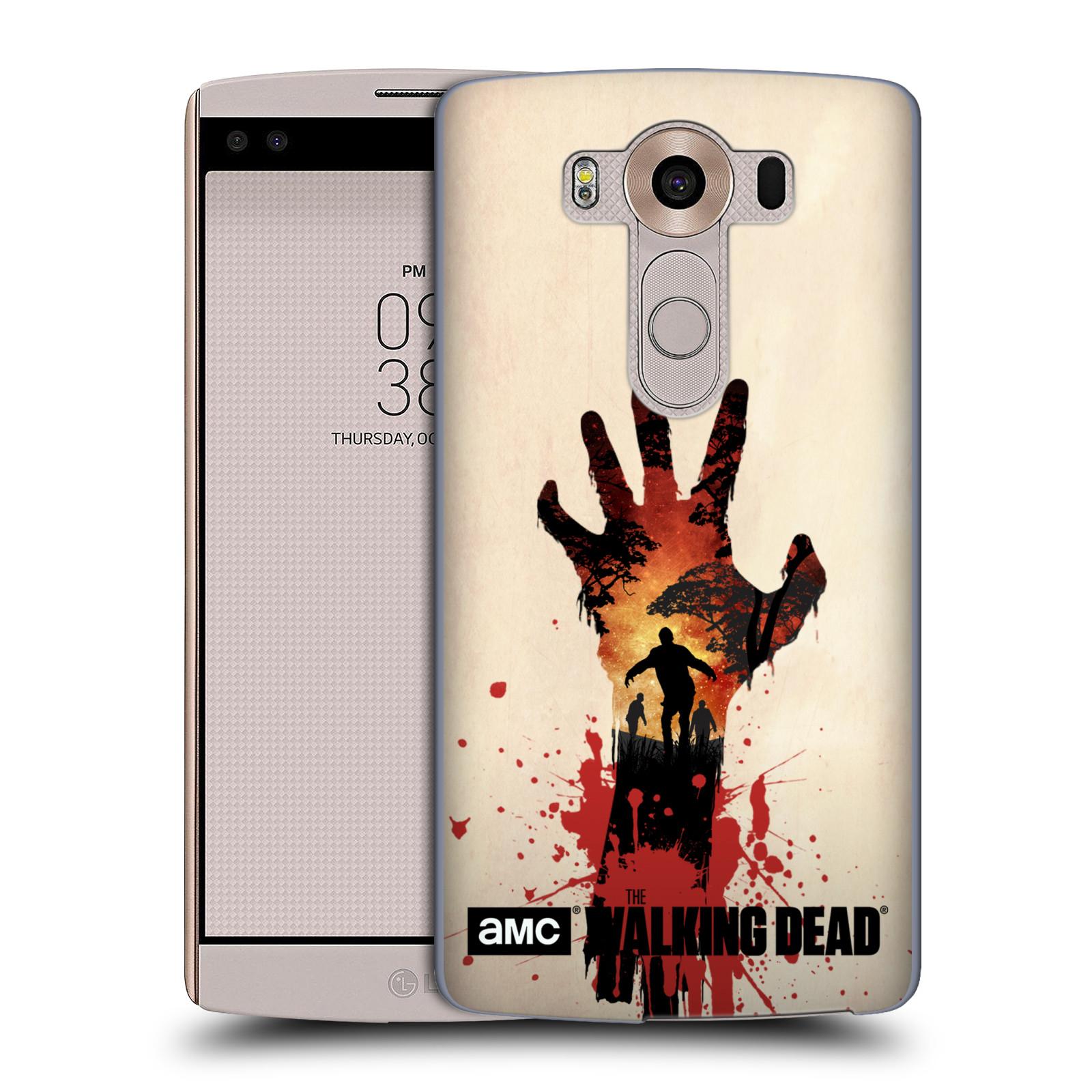 Pouzdro na mobil LG V10 - HEAD CASE - Živí Mrtví silueta ruky