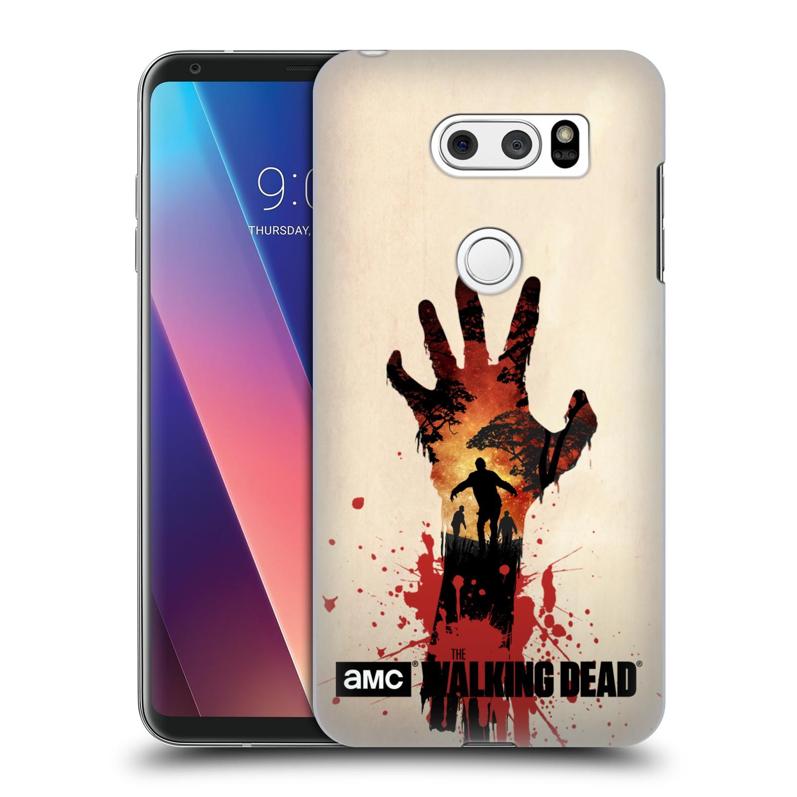 Pouzdro na mobil LG V30 - HEAD CASE - Živí Mrtví silueta ruky