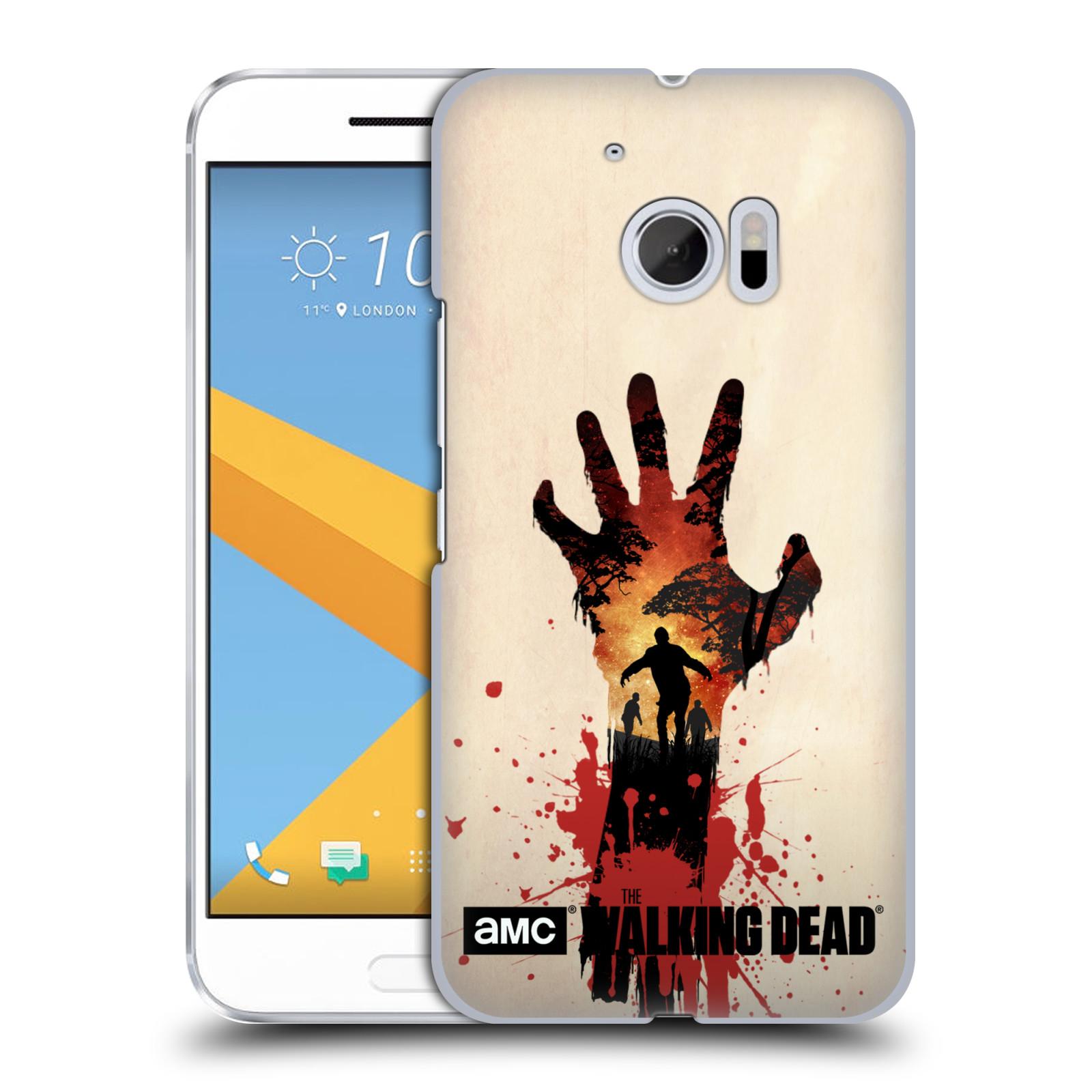 Pouzdro na mobil HTC 10 - HEAD CASE - Živí Mrtví silueta ruky