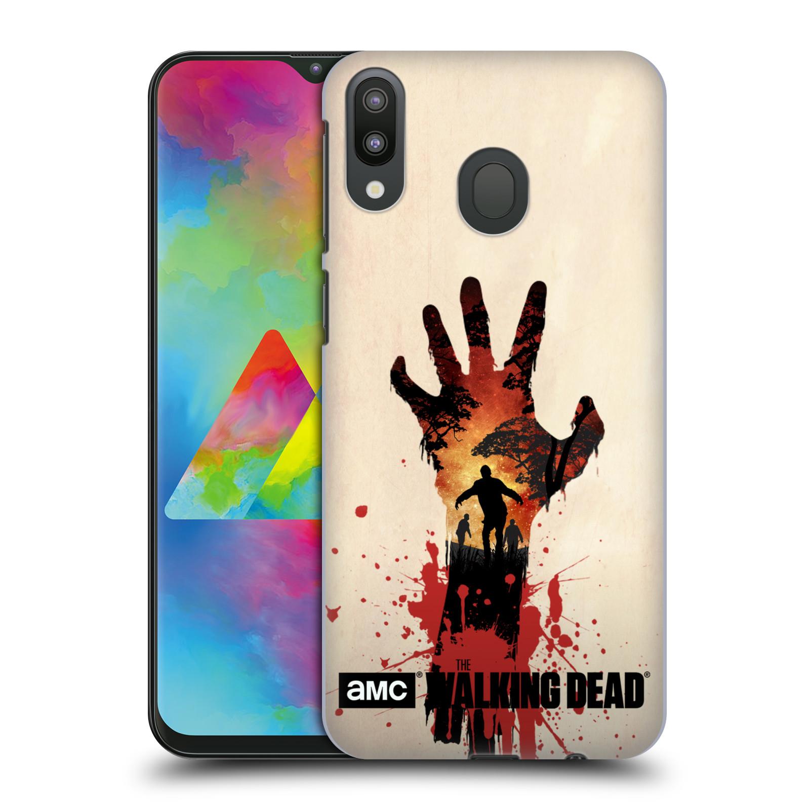 Pouzdro na mobil Samsung Galaxy M20 - HEAD CASE - Živí Mrtví silueta ruky