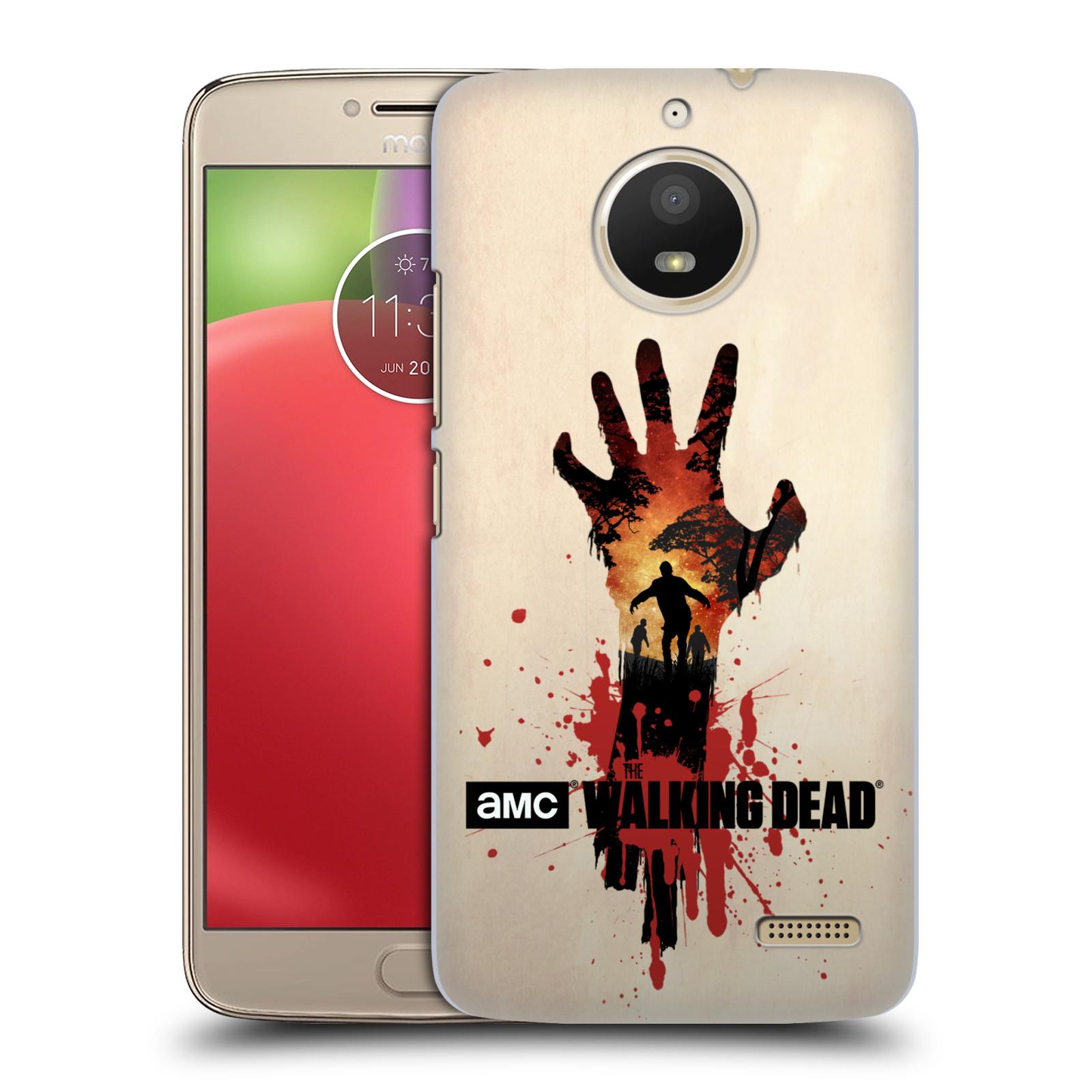 Pouzdro na mobil Lenovo Moto E4 - HEAD CASE - Živí Mrtví silueta ruky