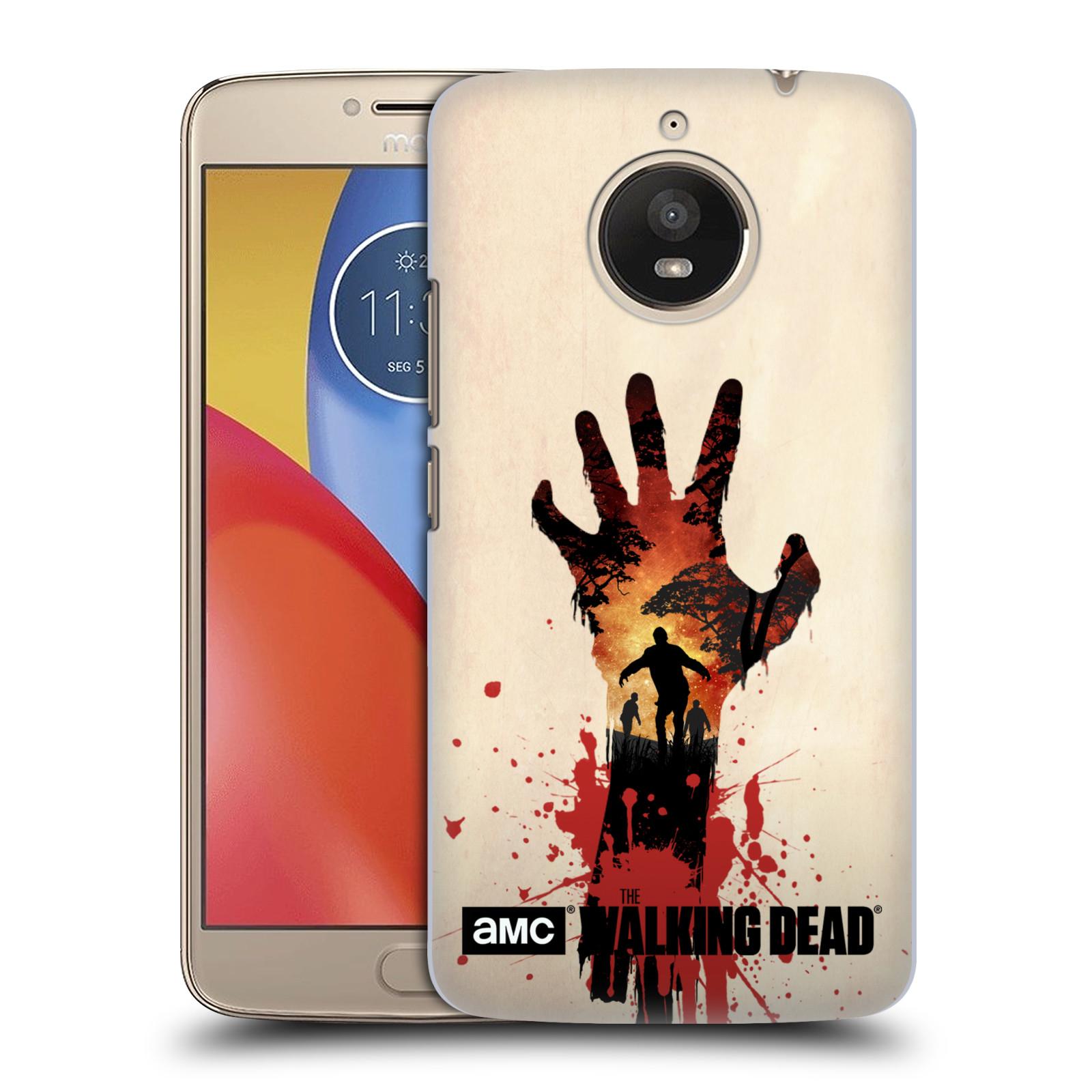 Pouzdro na mobil Lenovo Moto E4 PLUS - HEAD CASE - Živí Mrtví silueta ruky