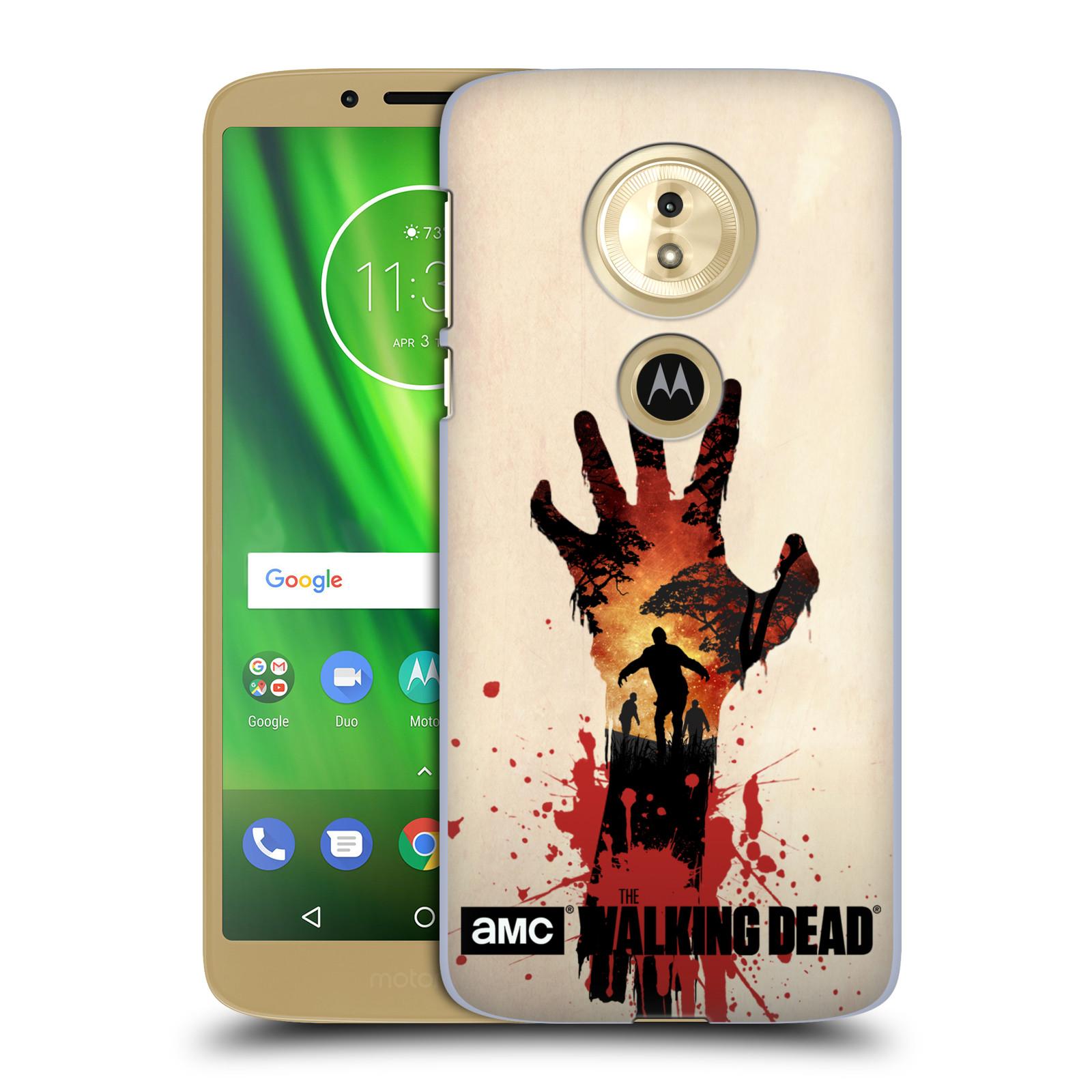 Pouzdro na mobil Motorola Moto E5 - HEAD CASE - Živí Mrtví silueta ruky