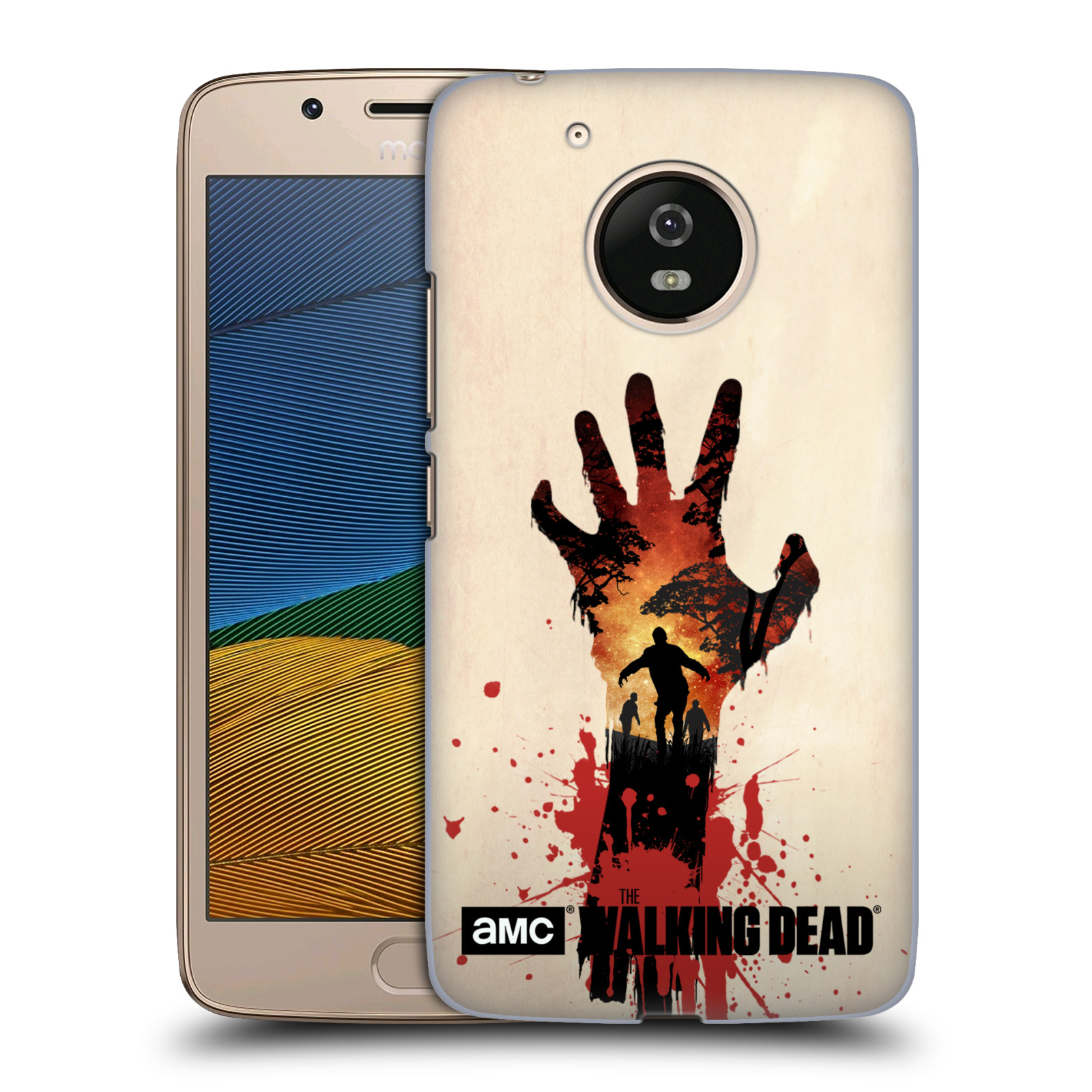 Pouzdro na mobil Lenovo Moto G5 - HEAD CASE - Živí Mrtví silueta ruky