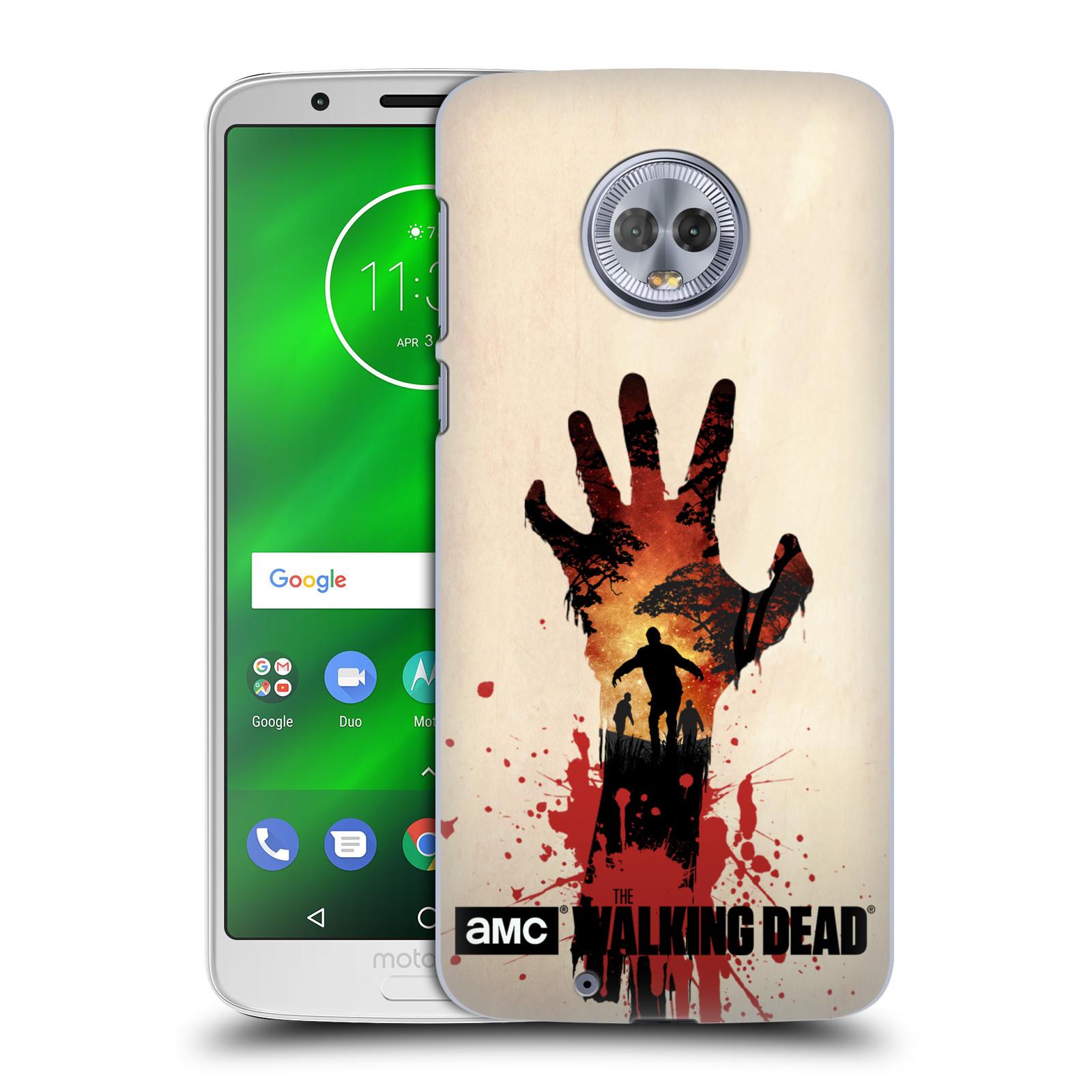 Pouzdro na mobil Motorola Moto G6 - HEAD CASE - Živí Mrtví silueta ruky
