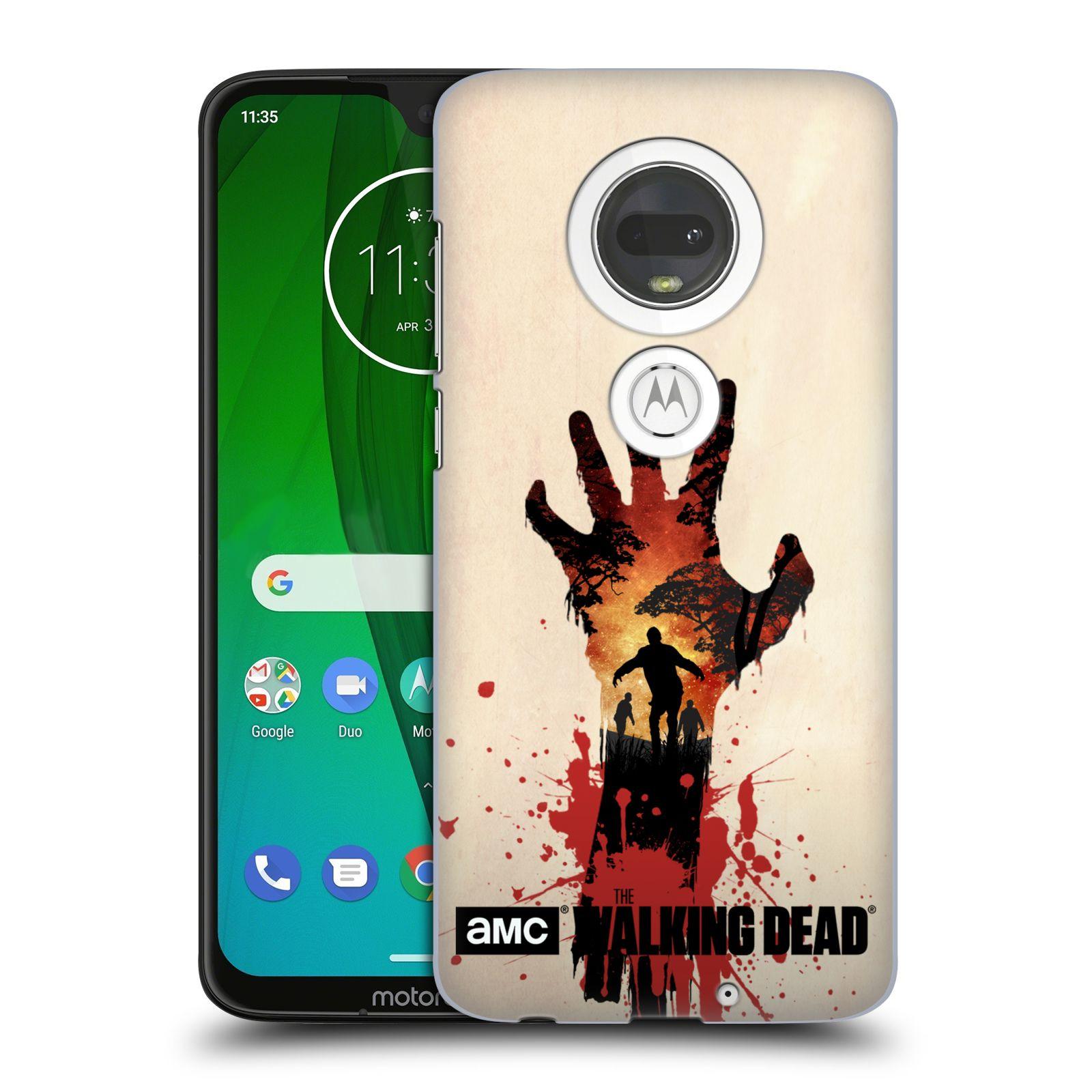Pouzdro na mobil Motorola Moto G7 - HEAD CASE - Živí Mrtví silueta ruky
