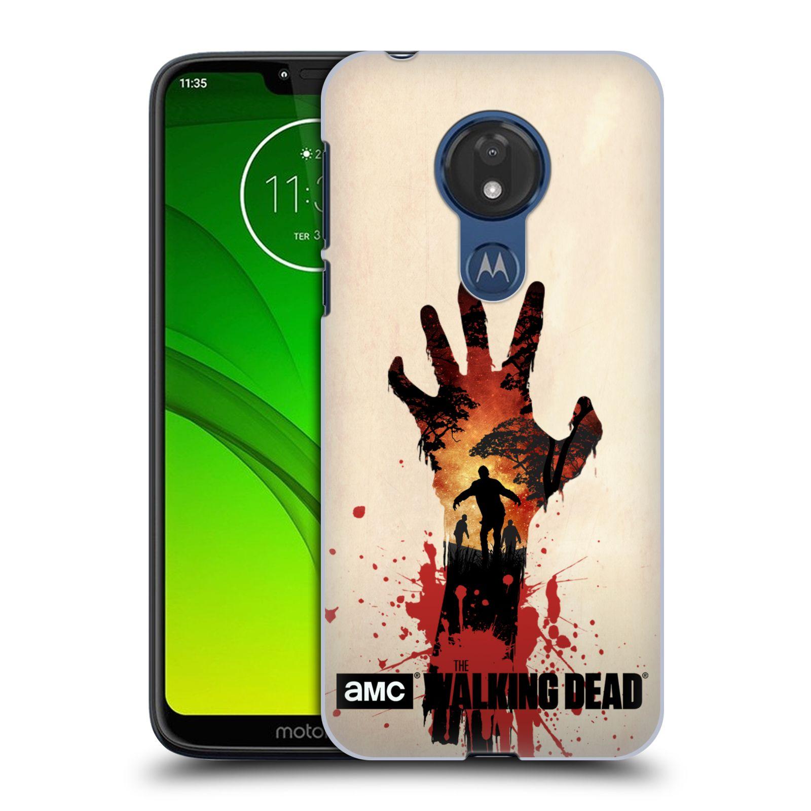 Pouzdro na mobil Motorola Moto G7 POWER - HEAD CASE - Živí Mrtví silueta ruky