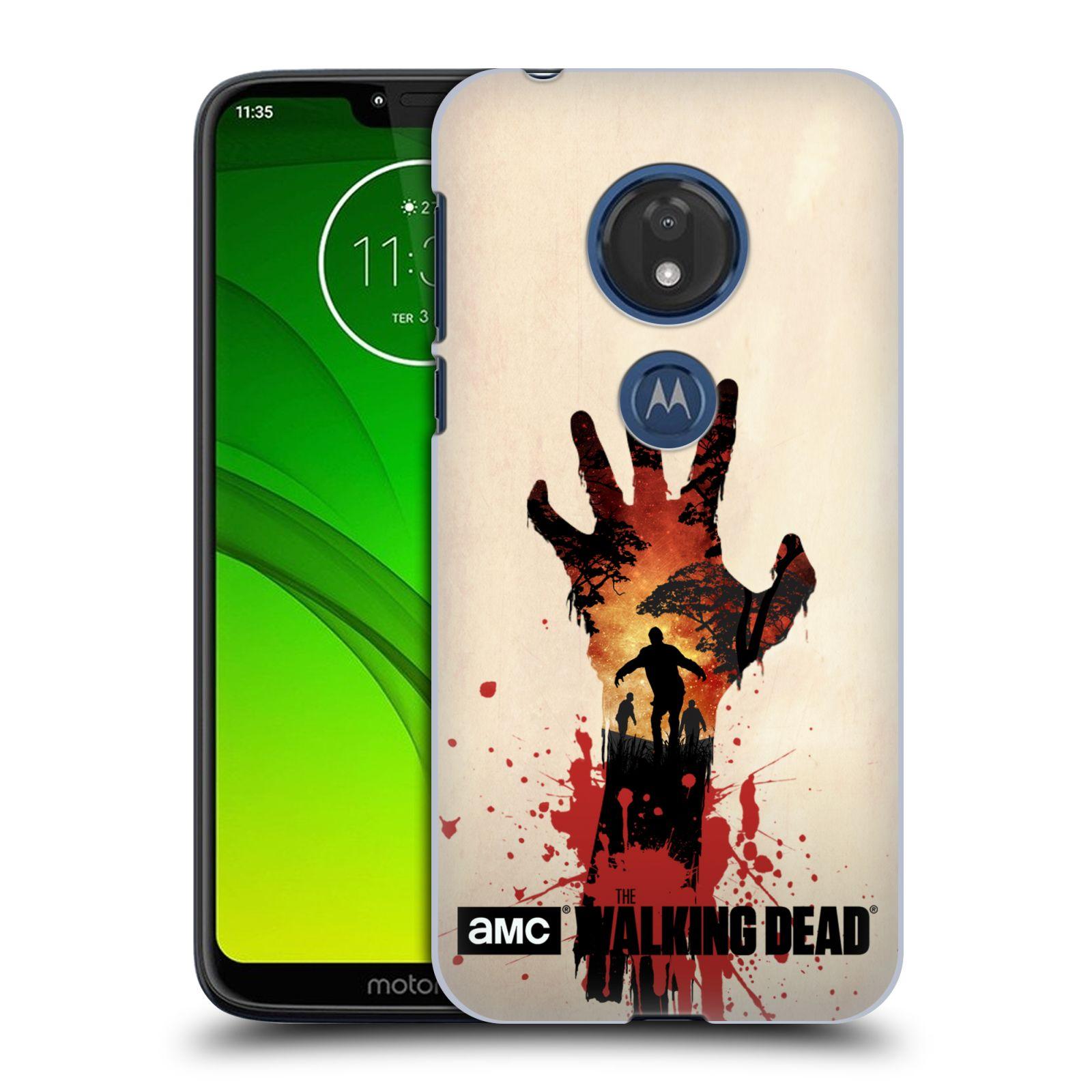 Pouzdro na mobil Motorola Moto G7 Play - HEAD CASE - Živí Mrtví silueta ruky