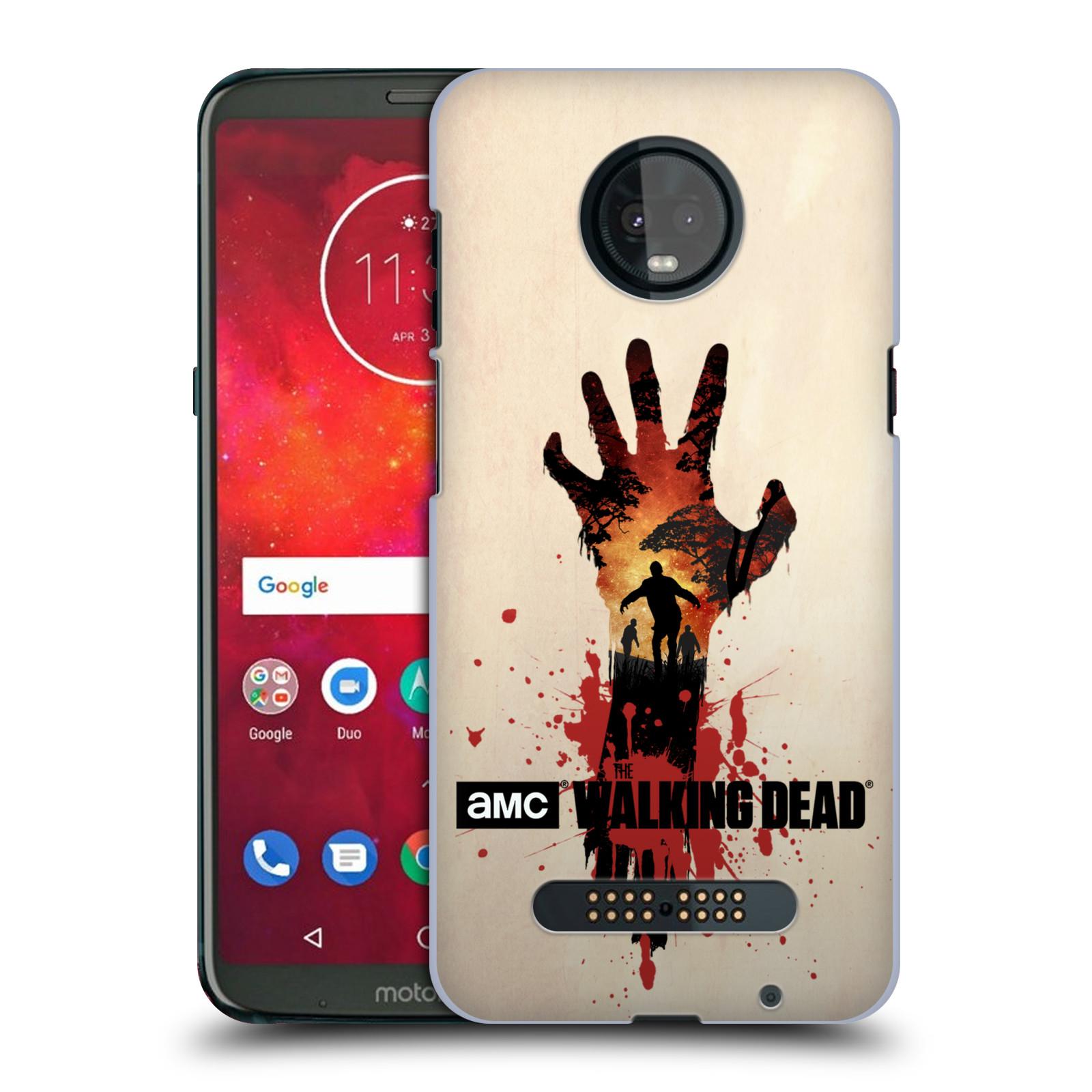 Pouzdro na mobil Motorola Moto Z3 PLAY - HEAD CASE - Živí Mrtví silueta ruky