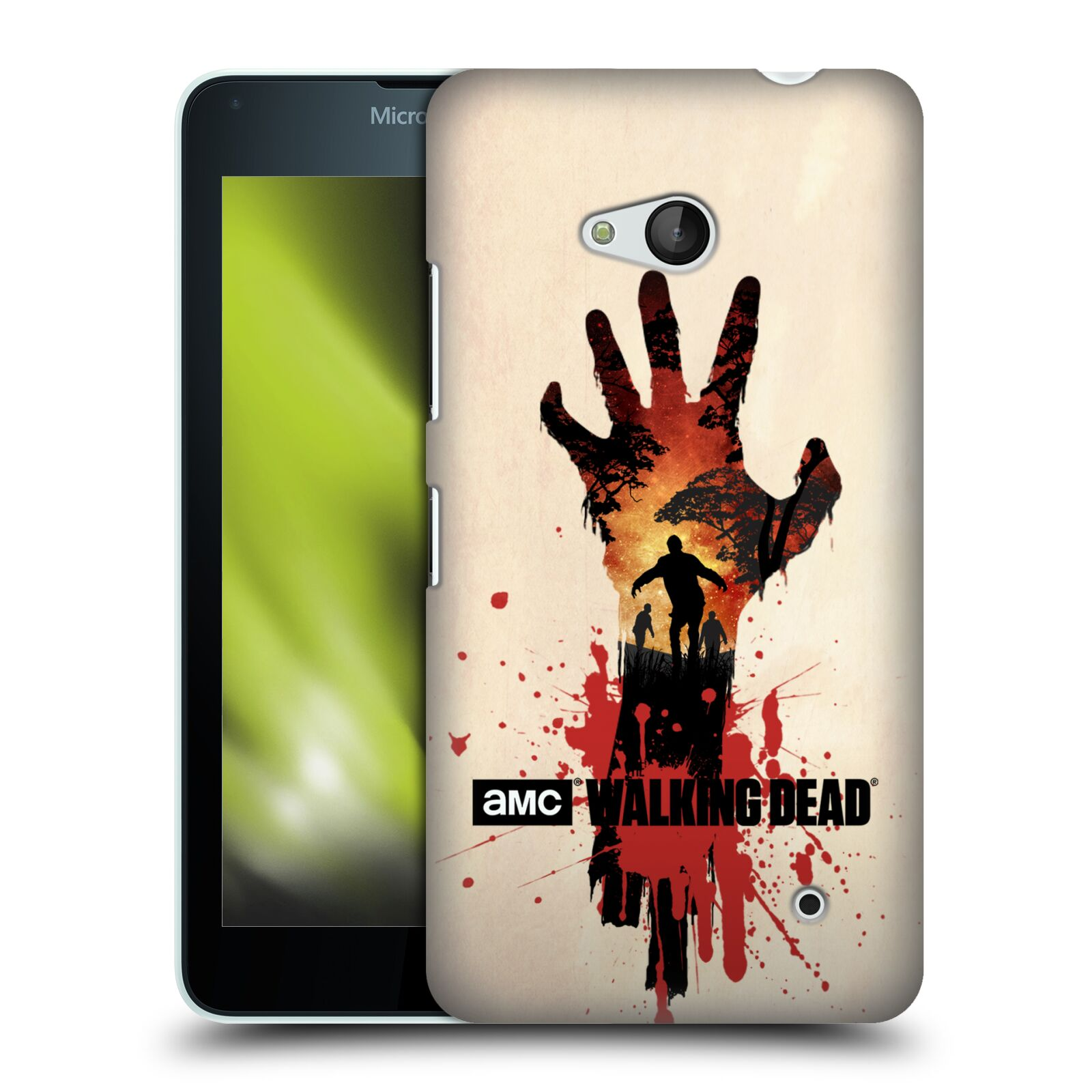 Pouzdro na mobil Microsoft Lumia 640 / 640 DUAL SIM - HEAD CASE - Živí Mrtví silueta ruky