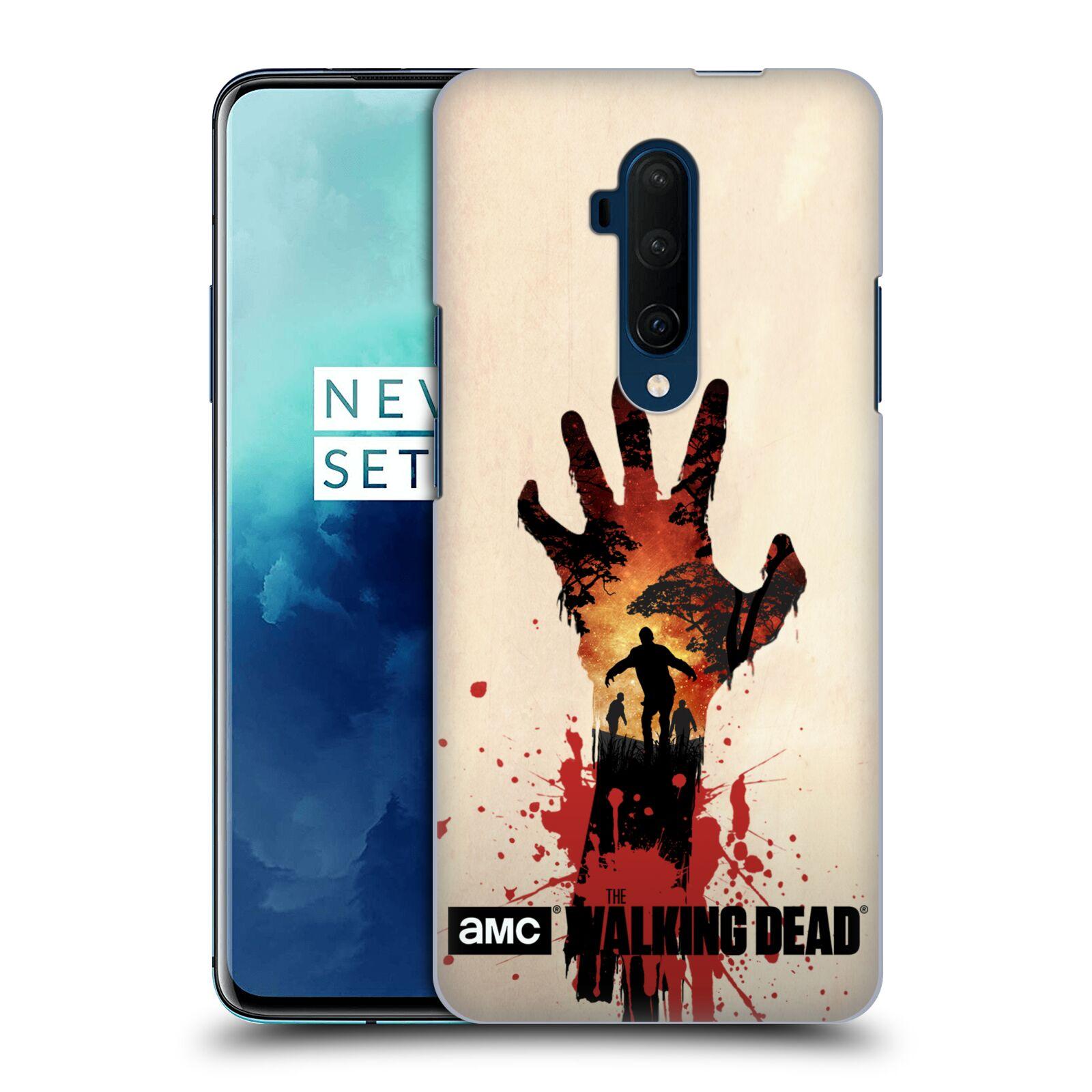 Pouzdro na mobil OnePlus 7T Pro - HEAD CASE - Živí Mrtví silueta ruky