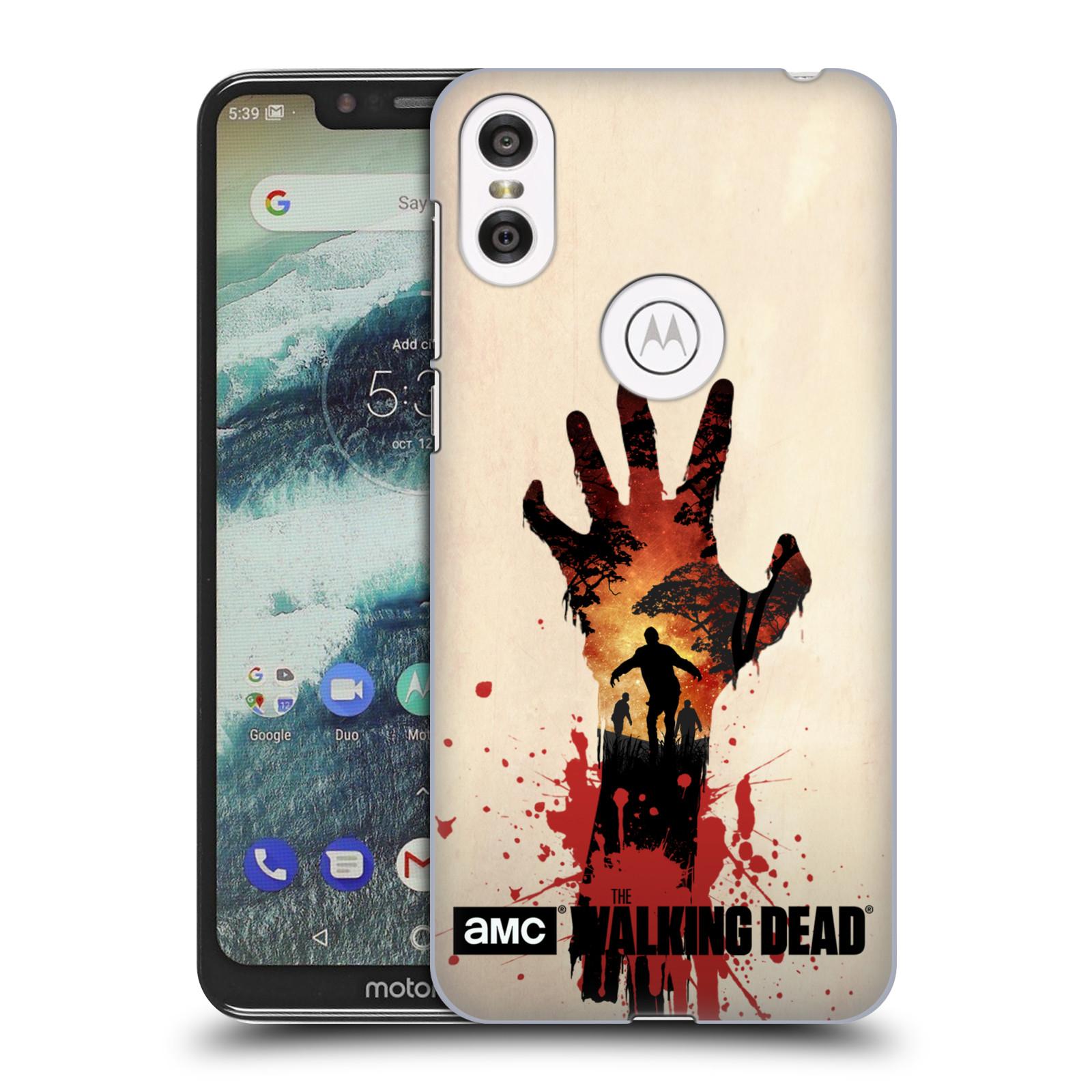 Pouzdro na mobil Motorola Moto ONE - HEAD CASE - Živí Mrtví silueta ruky