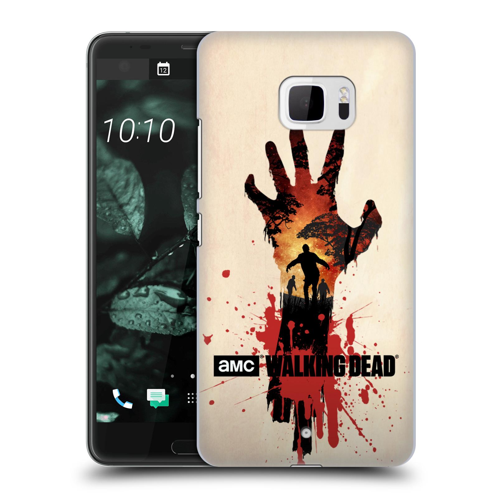 Pouzdro na mobil HTC U Ultra - HEAD CASE - Živí Mrtví silueta ruky