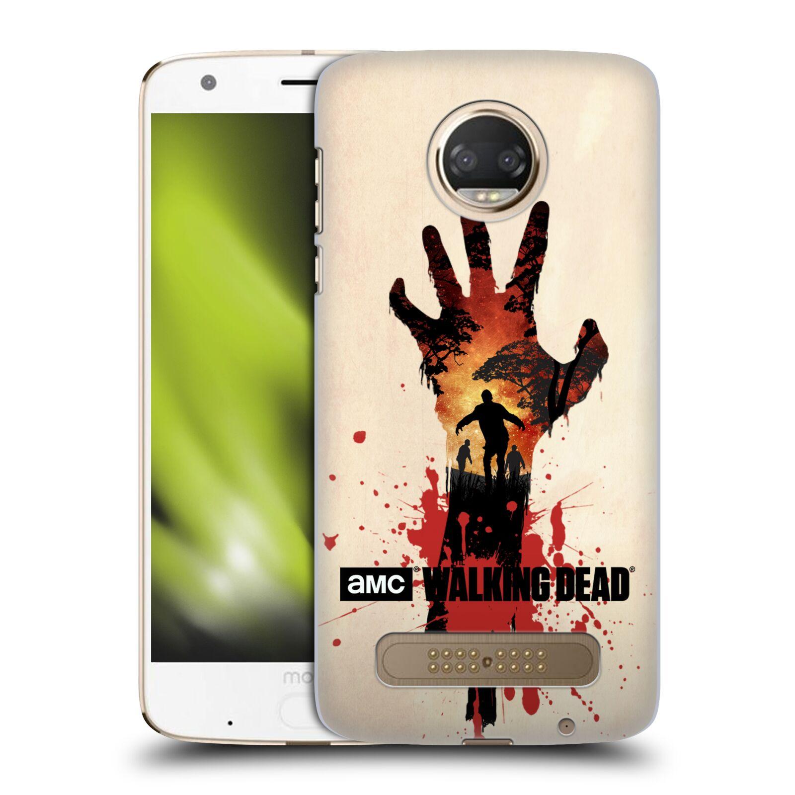 Pouzdro na mobil Motorola Moto Z2 PLAY - HEAD CASE - Živí Mrtví silueta ruky