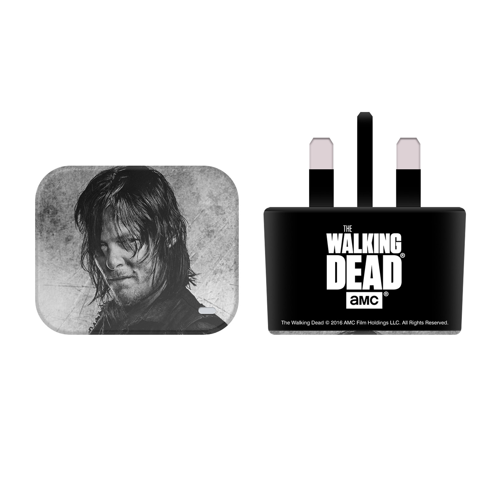The Walking Dead Various Art Black Uk Charger Usb Cable