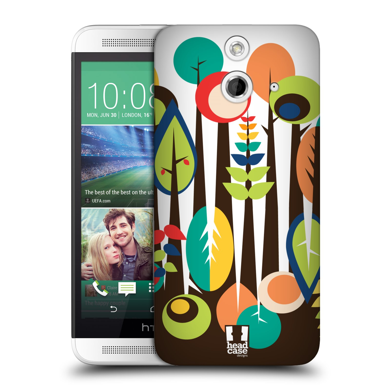 HEAD CASE DESIGNS UPSIDE DOWN HARD BACK CASE FOR HTC ONE E8 LTE