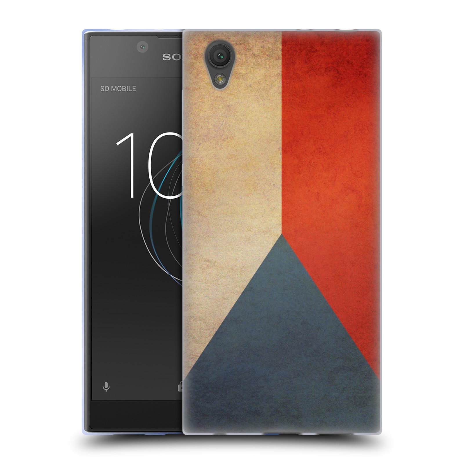 Pouzdro na mobil Sony Xperia L1 - HEAD CASE - vlajky Česká republika