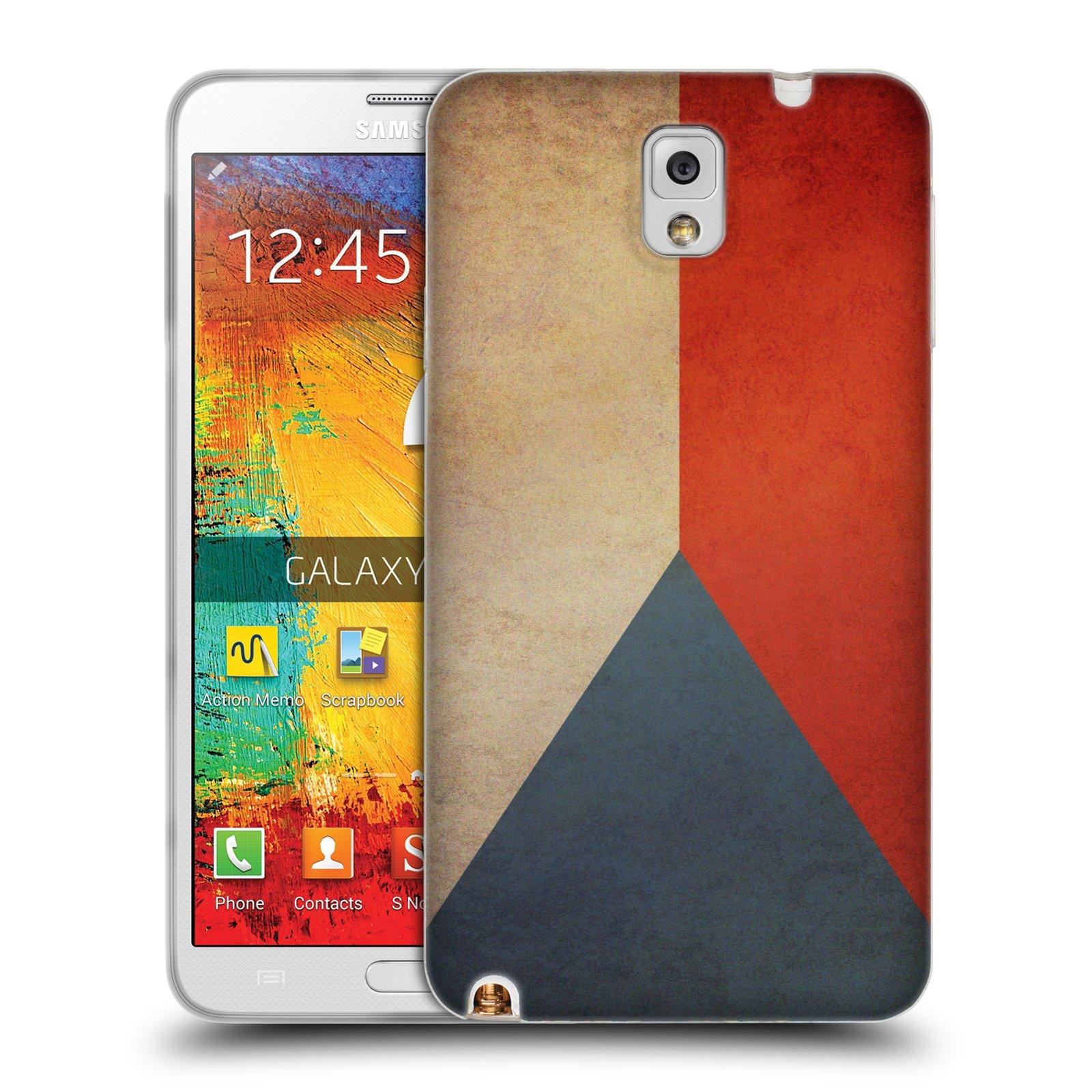 Pouzdro na mobil Samsung Galaxy Note 3 - HEAD CASE - vlajky Česká republika