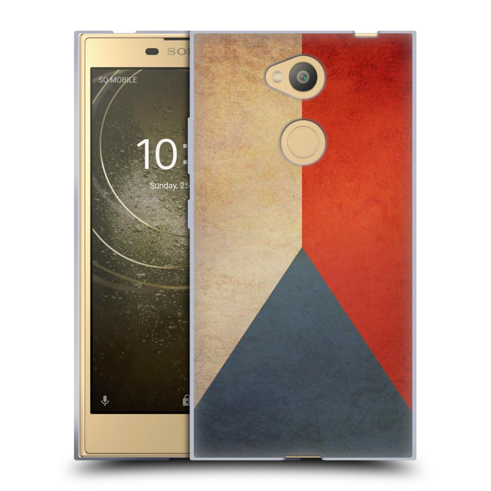 Pouzdro na mobil Sony Xperia L2 - HEAD CASE - vlajky Česká republika