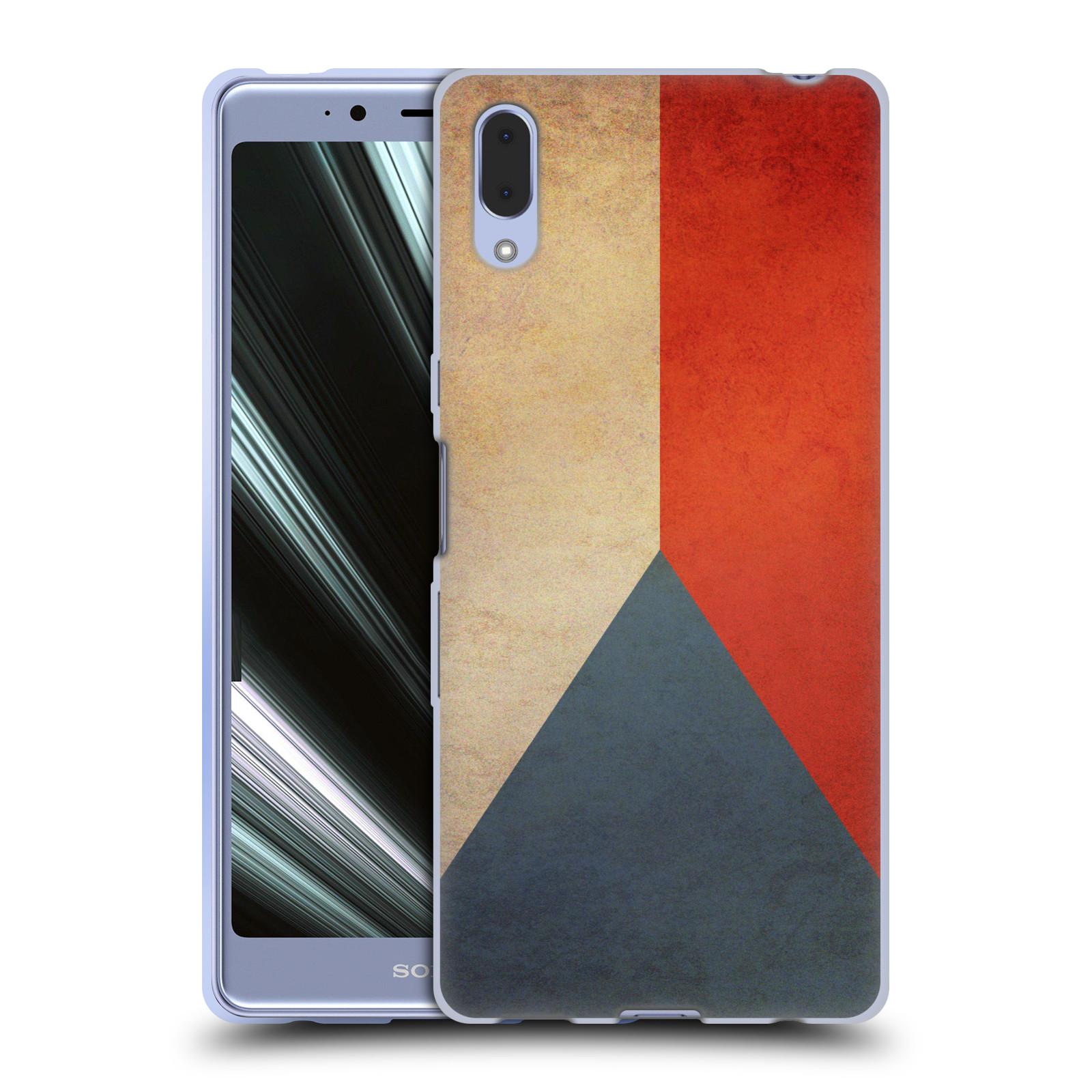 Pouzdro na mobil Sony Xperia L3 - HEAD CASE - vlajky Česká republika
