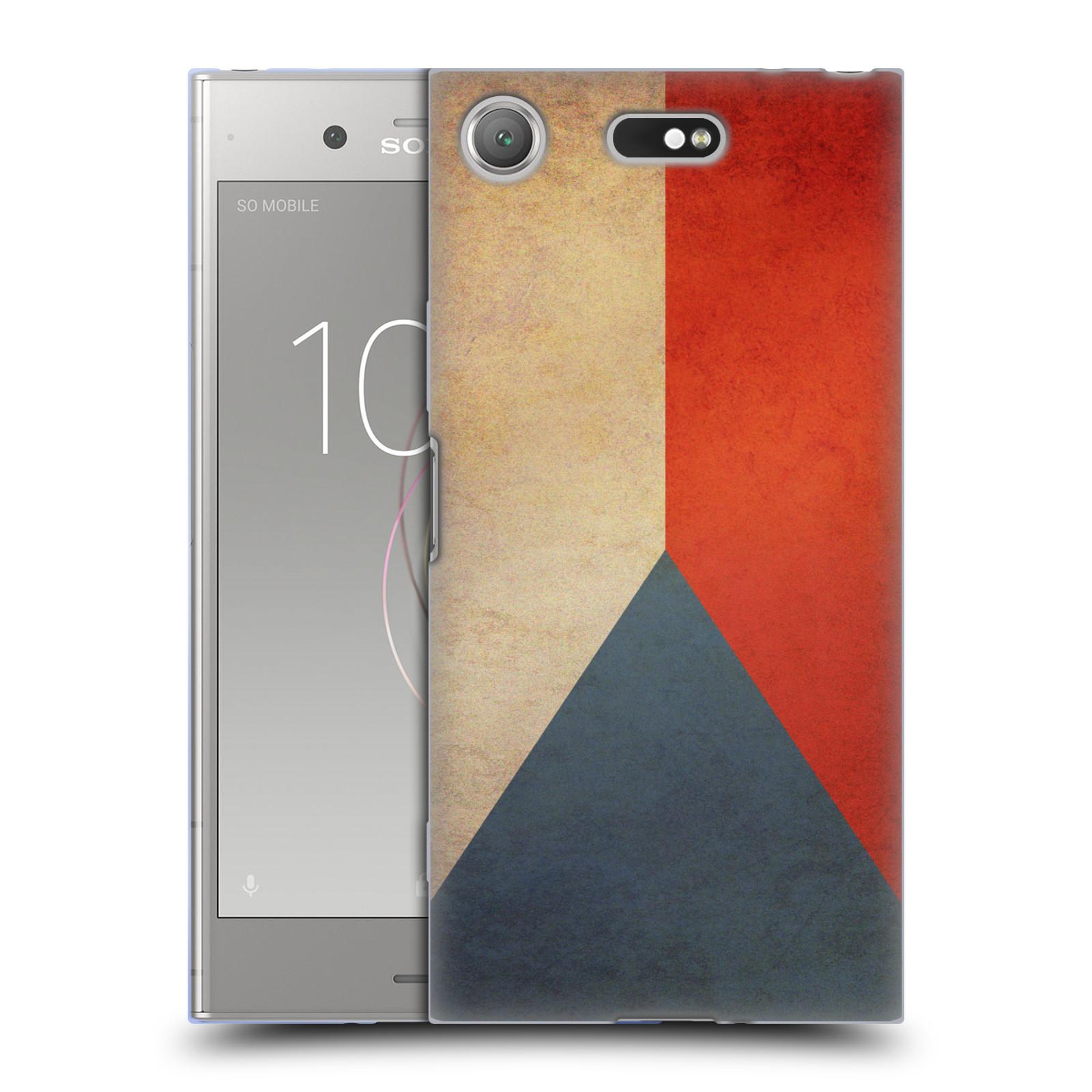 Pouzdro na mobil Sony Xperia XZ1 Compact - HEAD CASE - vlajky Česká republika