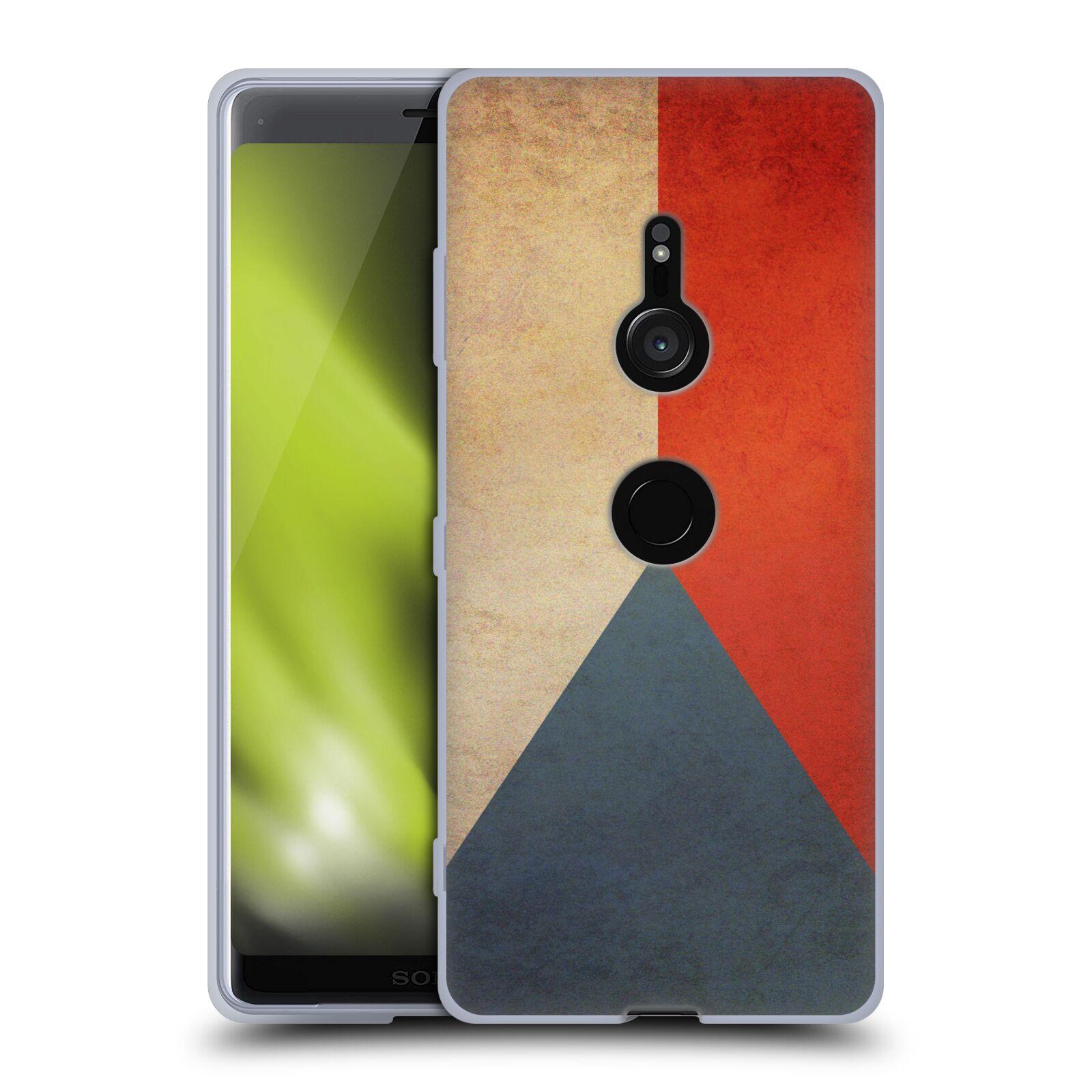 Pouzdro na mobil Sony Xperia XZ3 - HEAD CASE - vlajky Česká republika