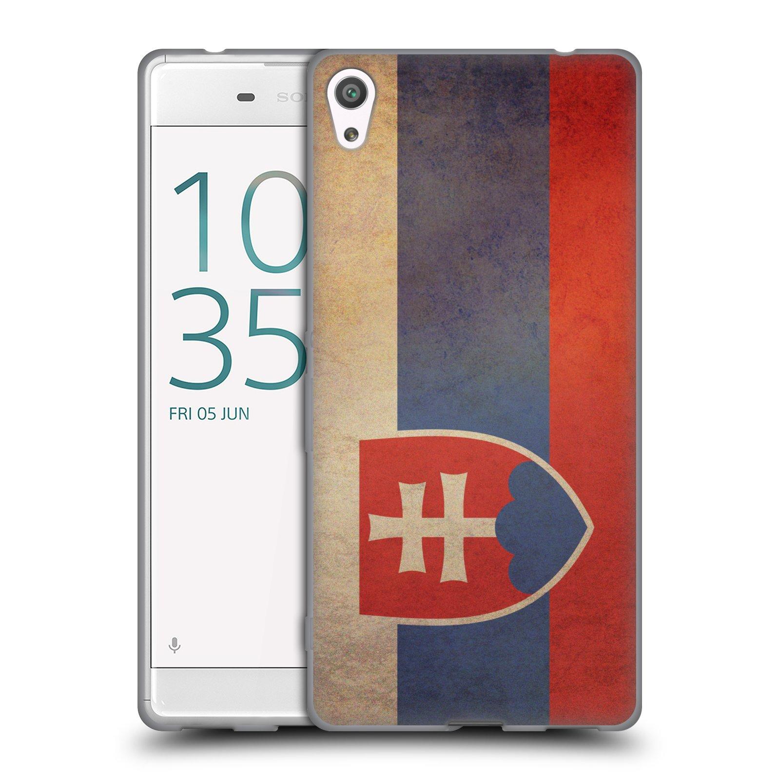 Pouzdro na mobil Sony Xperia XA ULTRA - HEAD CASE - vlajky Slovenská republika
