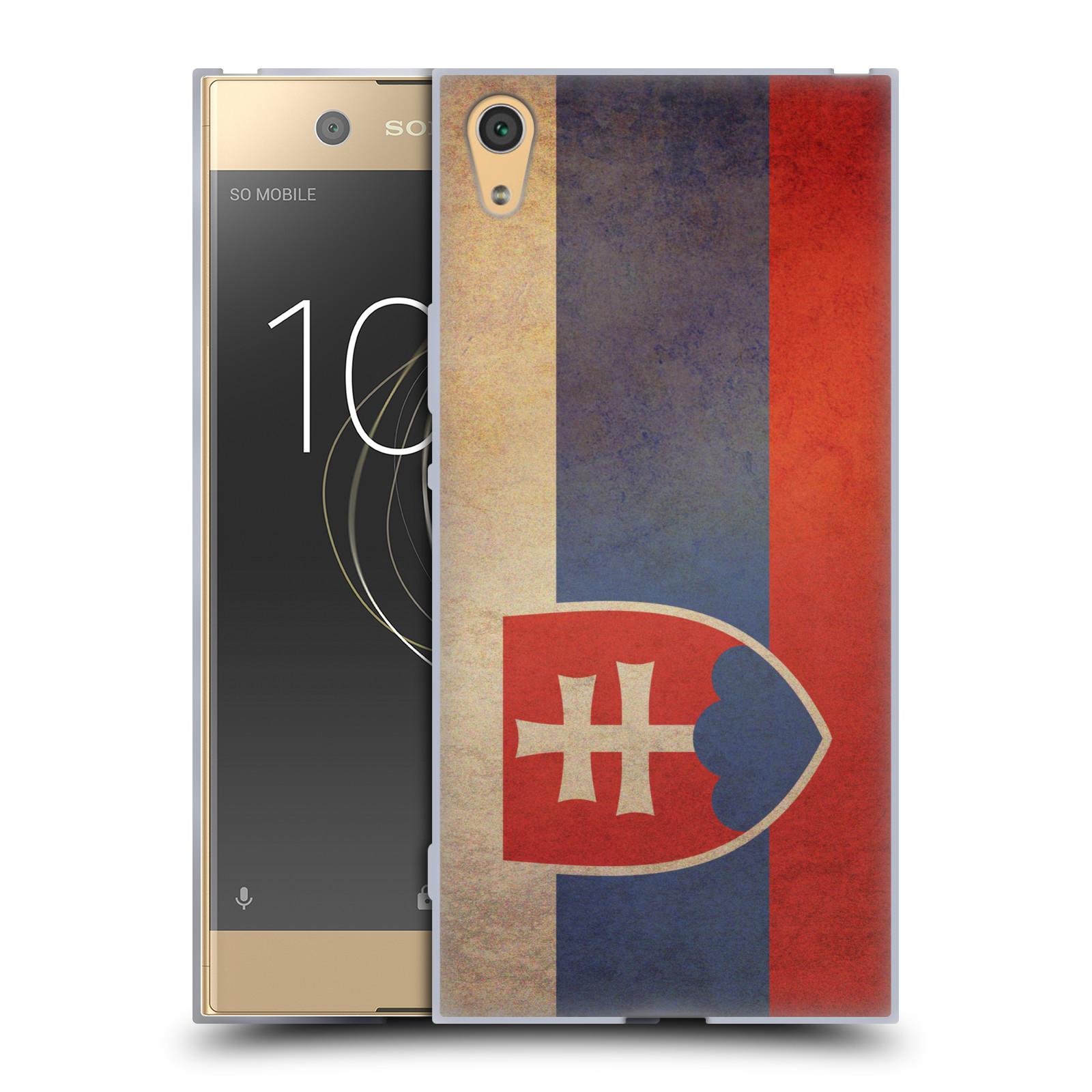 Pouzdro na mobil Sony Xperia XA1 ULTRA - HEAD CASE - vlajky Slovenská republika
