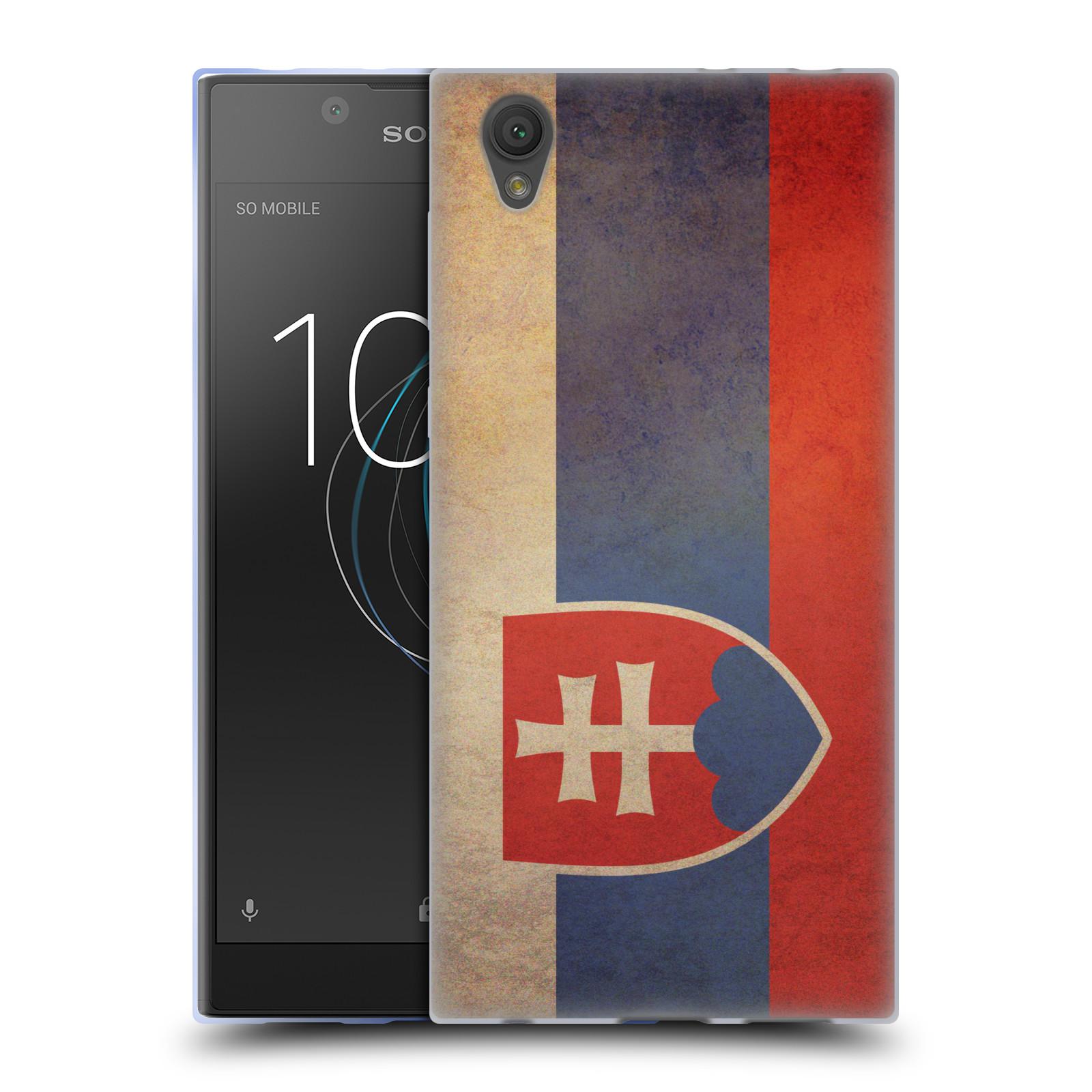 Pouzdro na mobil Sony Xperia L1 - HEAD CASE - vlajky Slovenská republika
