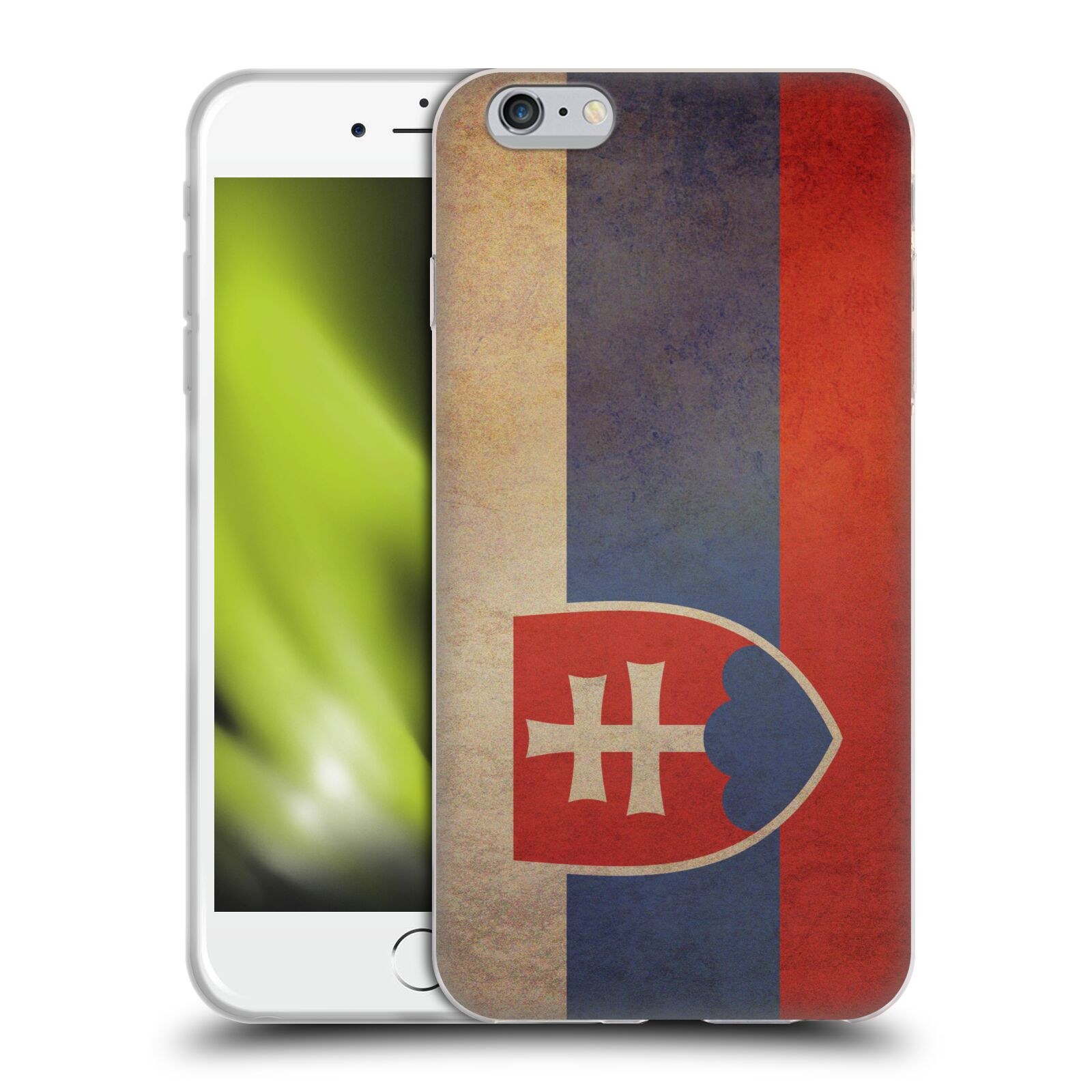 Pouzdro na mobil Apple Iphone 6 PLUS / 6S PLUS - HEAD CASE - vlajky Slovenská republika