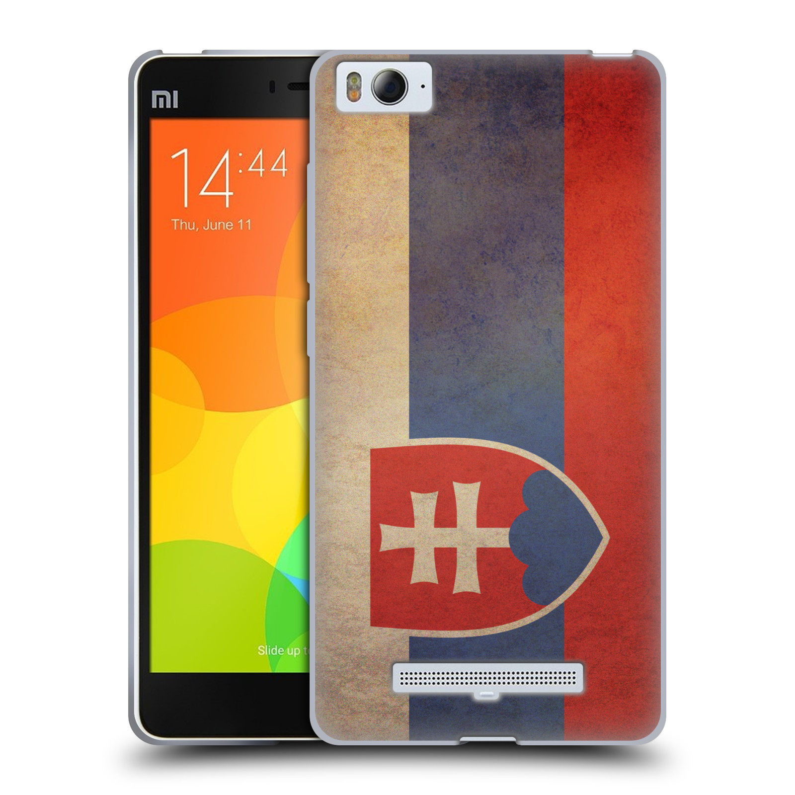 Pouzdro na mobil Xiaomi Mi4c - HEAD CASE - vlajky Slovenská republika