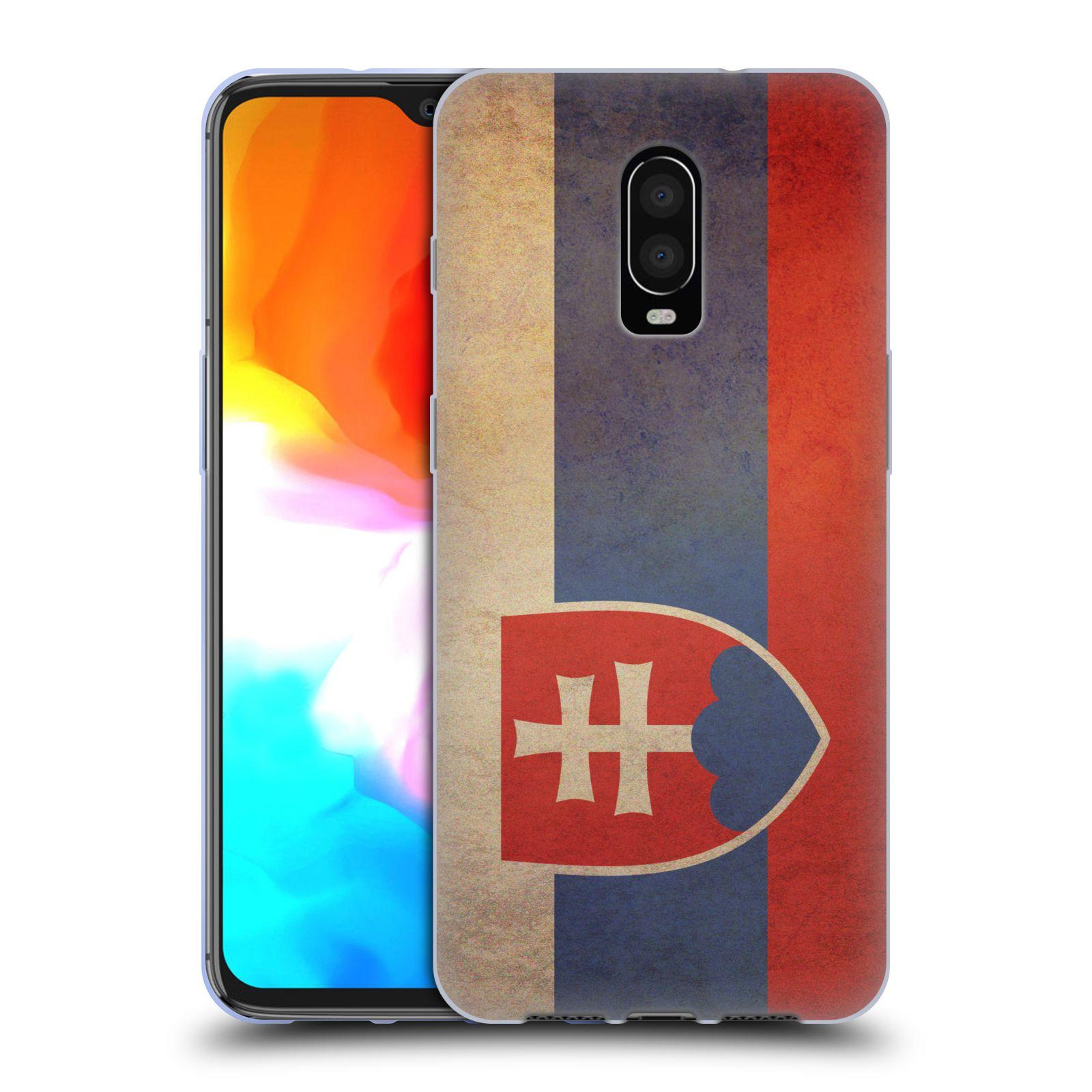 Pouzdro na mobil OnePlus 6T - HEAD CASE - vlajky Slovenská republika