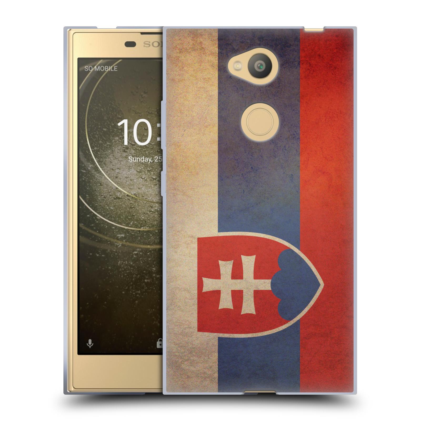 Pouzdro na mobil Sony Xperia L2 - HEAD CASE - vlajky Slovenská republika