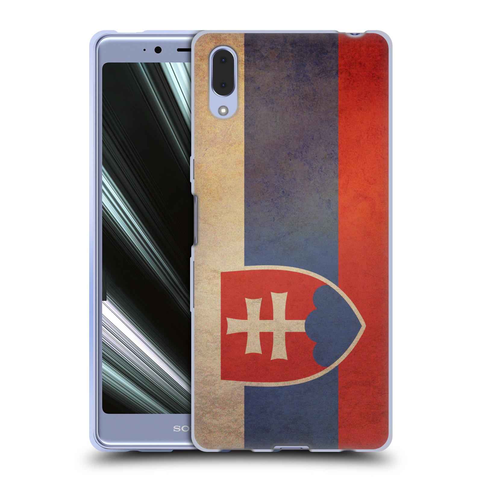 Pouzdro na mobil Sony Xperia L3 - HEAD CASE - vlajky Slovenská republika