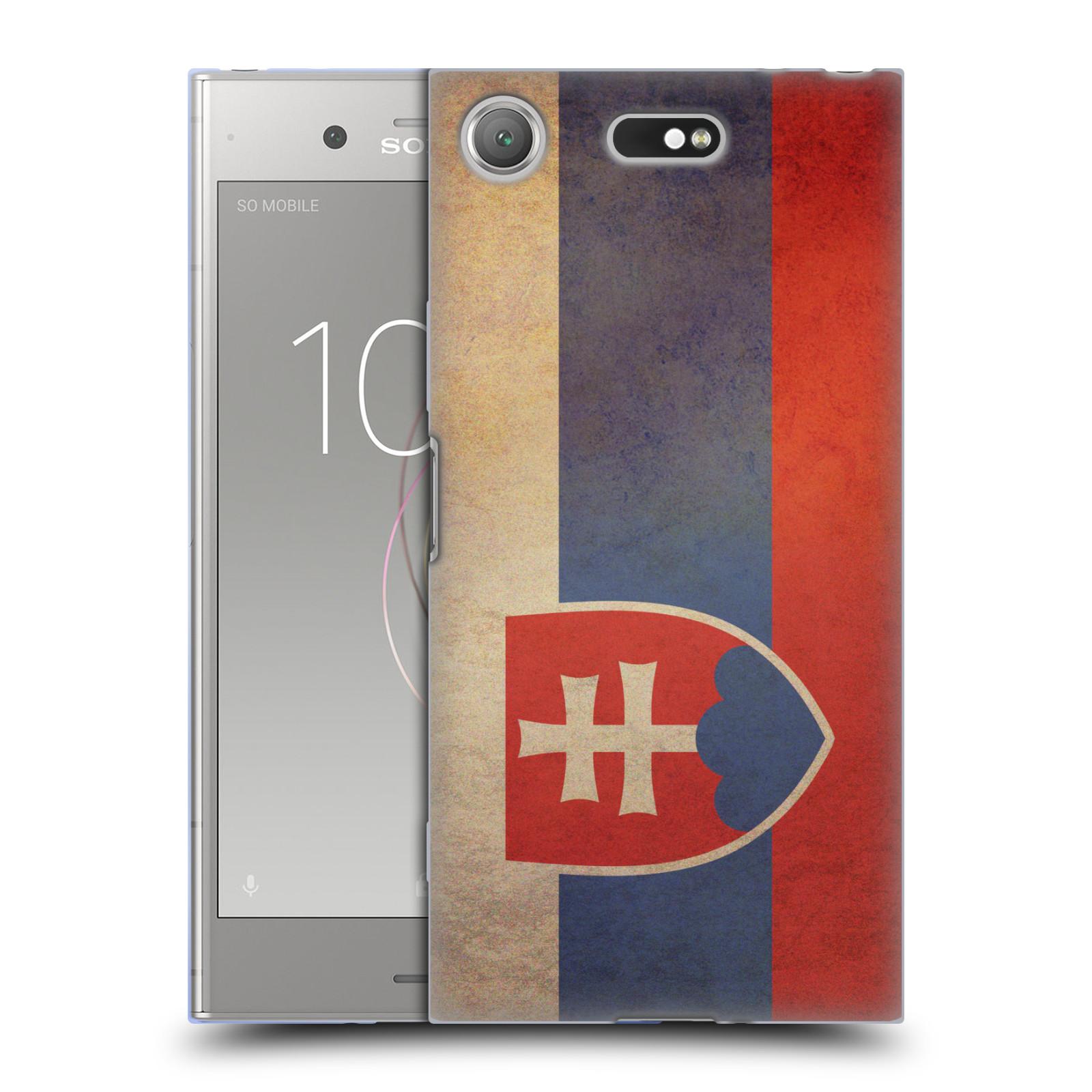 Pouzdro na mobil Sony Xperia XZ1 Compact - HEAD CASE - vlajky Slovenská republika