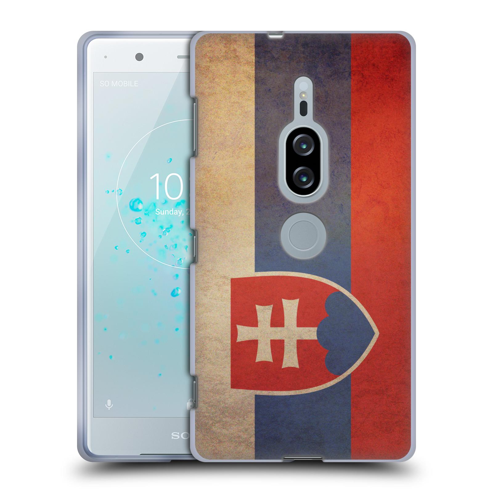 Pouzdro na mobil Sony Xperia XZ2 PREMIUM - HEAD CASE - vlajky Slovenská republika