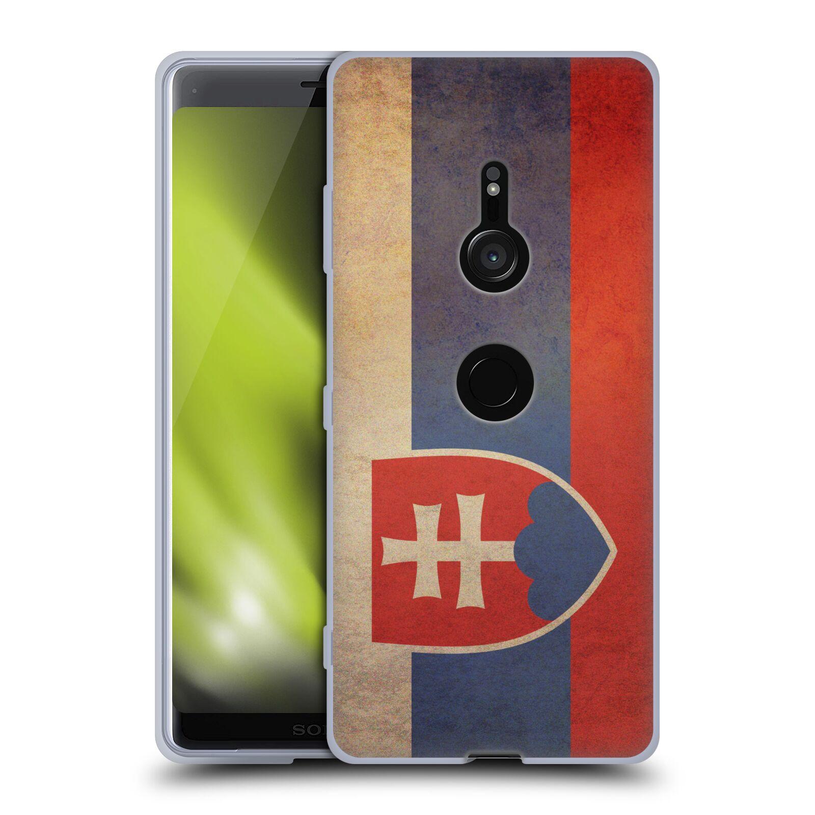 Pouzdro na mobil Sony Xperia XZ3 - HEAD CASE - vlajky Slovenská republika