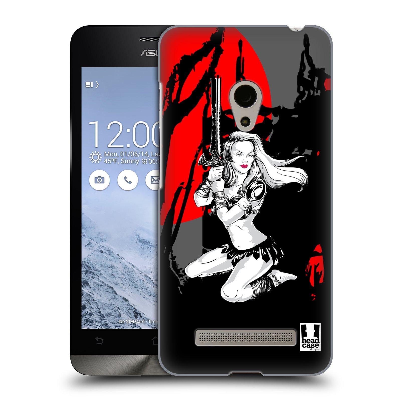 HEAD CASE plastový obal na mobil Asus Zenfone 5 vzor Komixové bojovnice AMAZONKA