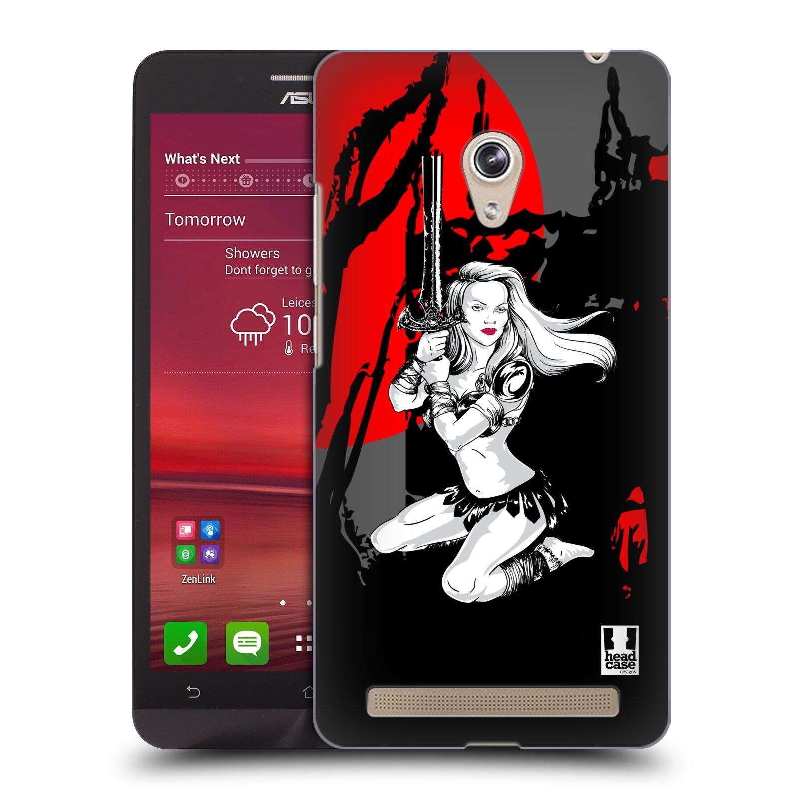 HEAD CASE plastový obal na mobil Asus Zenfone 6 vzor Komixové bojovnice AMAZONKA