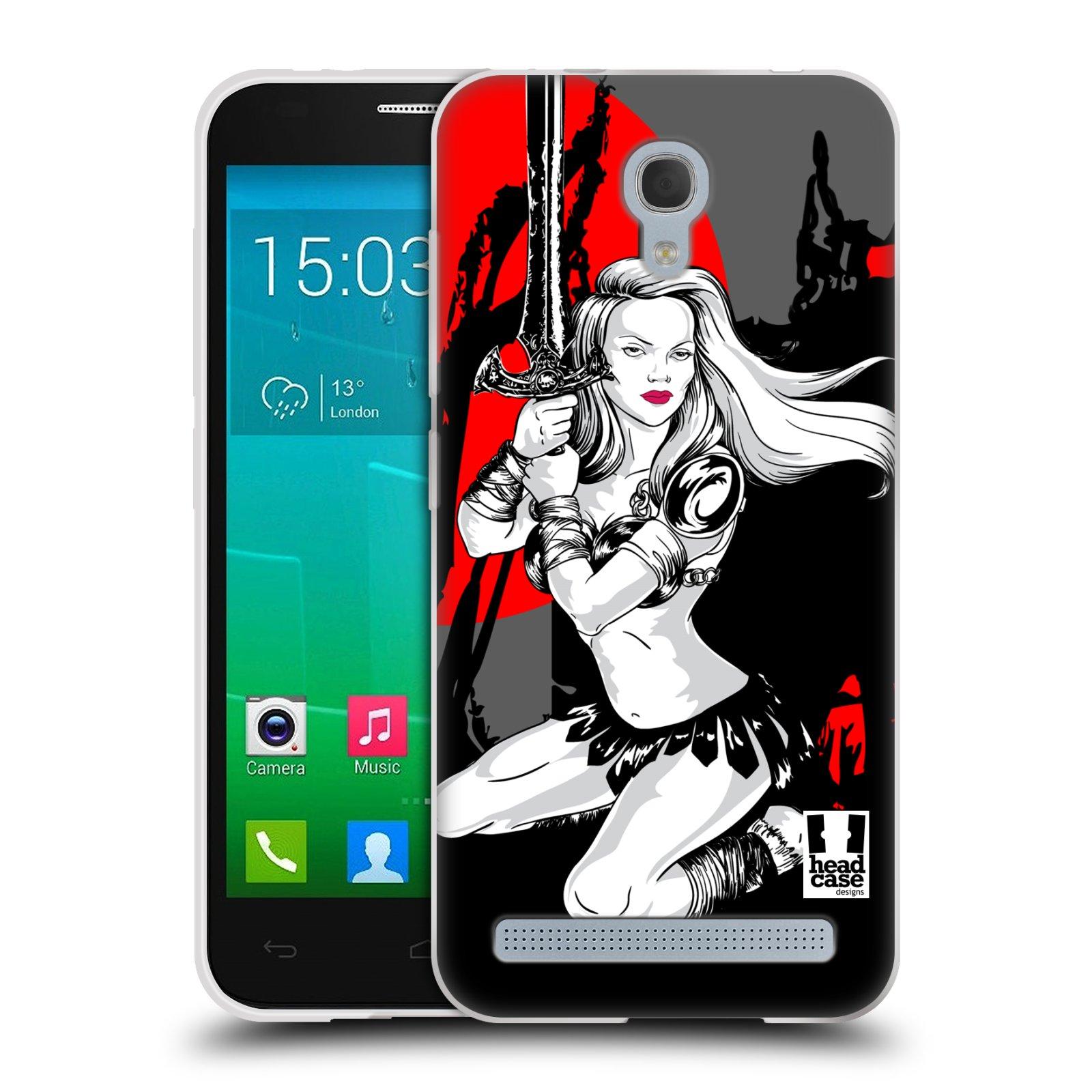 HEAD CASE silikonový obal na mobil Alcatel Idol 2 MINI S 6036Y vzor Komixové bojovnice AMAZONKA