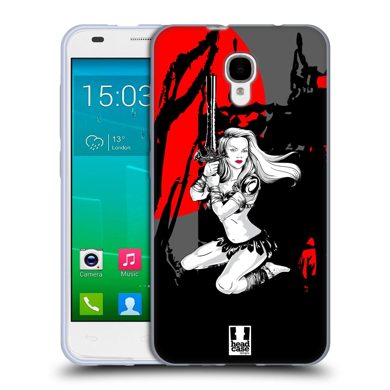 HEAD CASE silikonový obal na mobil Alcatel Idol 2 S OT-6050 vzor Komixové bojovnice AMAZONKA