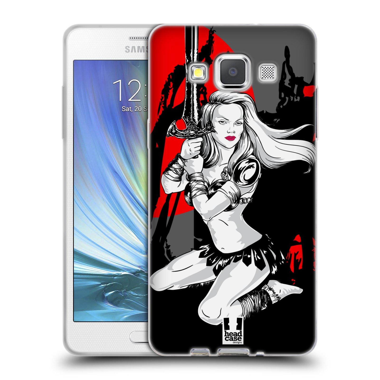 HEAD CASE silikonový obal na mobil Samsung Galaxy A5 vzor Komixové bojovnice AMAZONKA