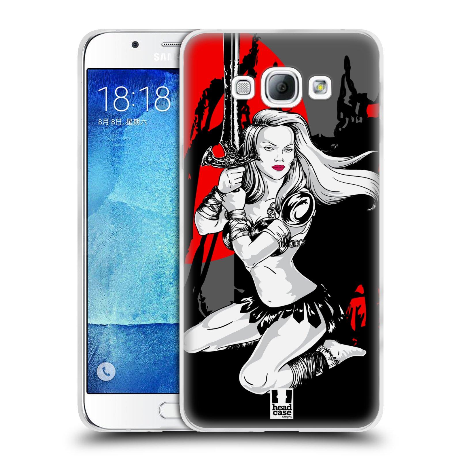 HEAD CASE silikonový obal na mobil Samsung Galaxy A8 vzor Komixové bojovnice AMAZONKA