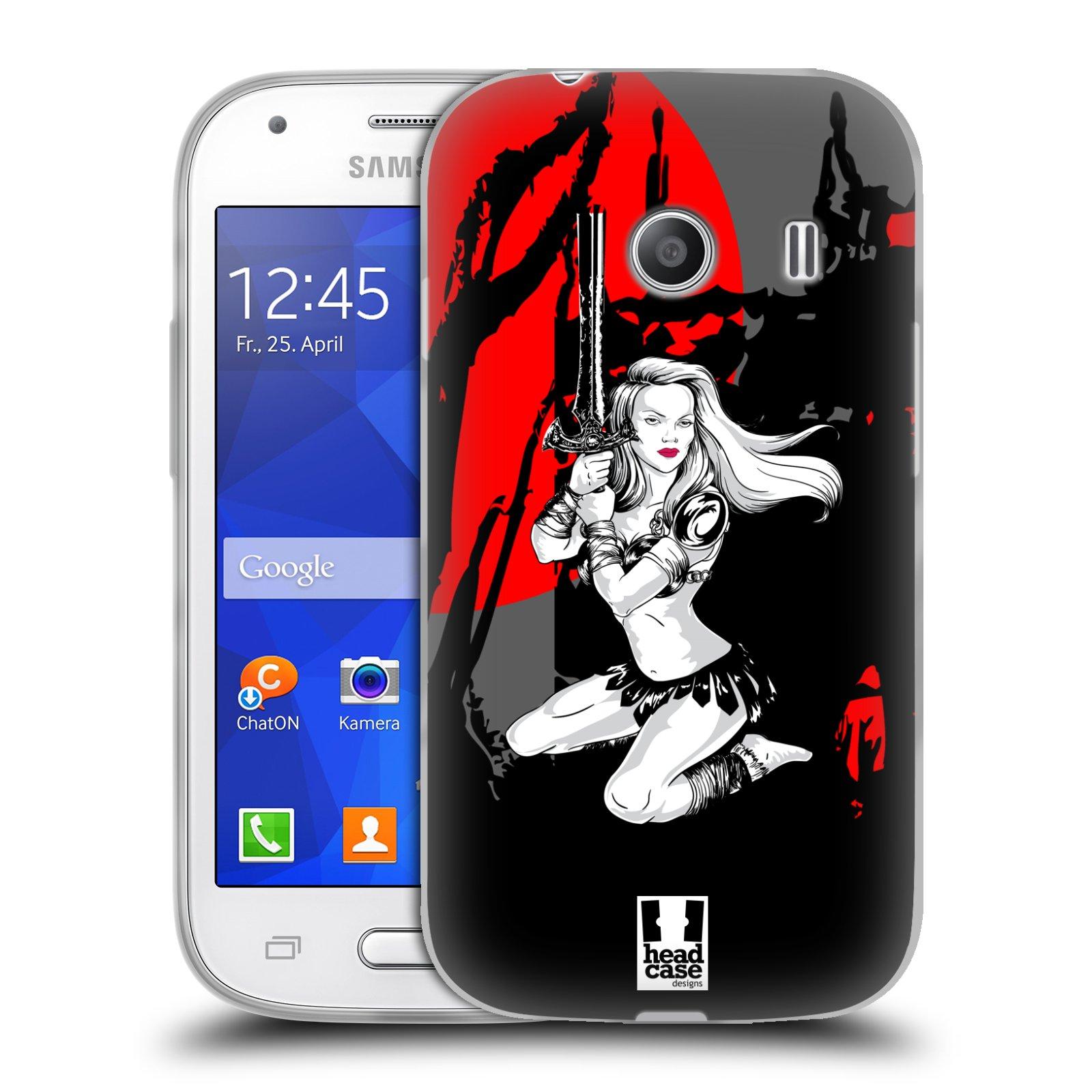 HEAD CASE silikonový obal na mobil Samsung Galaxy Ace Style (G310) vzor Komixové bojovnice AMAZONKA